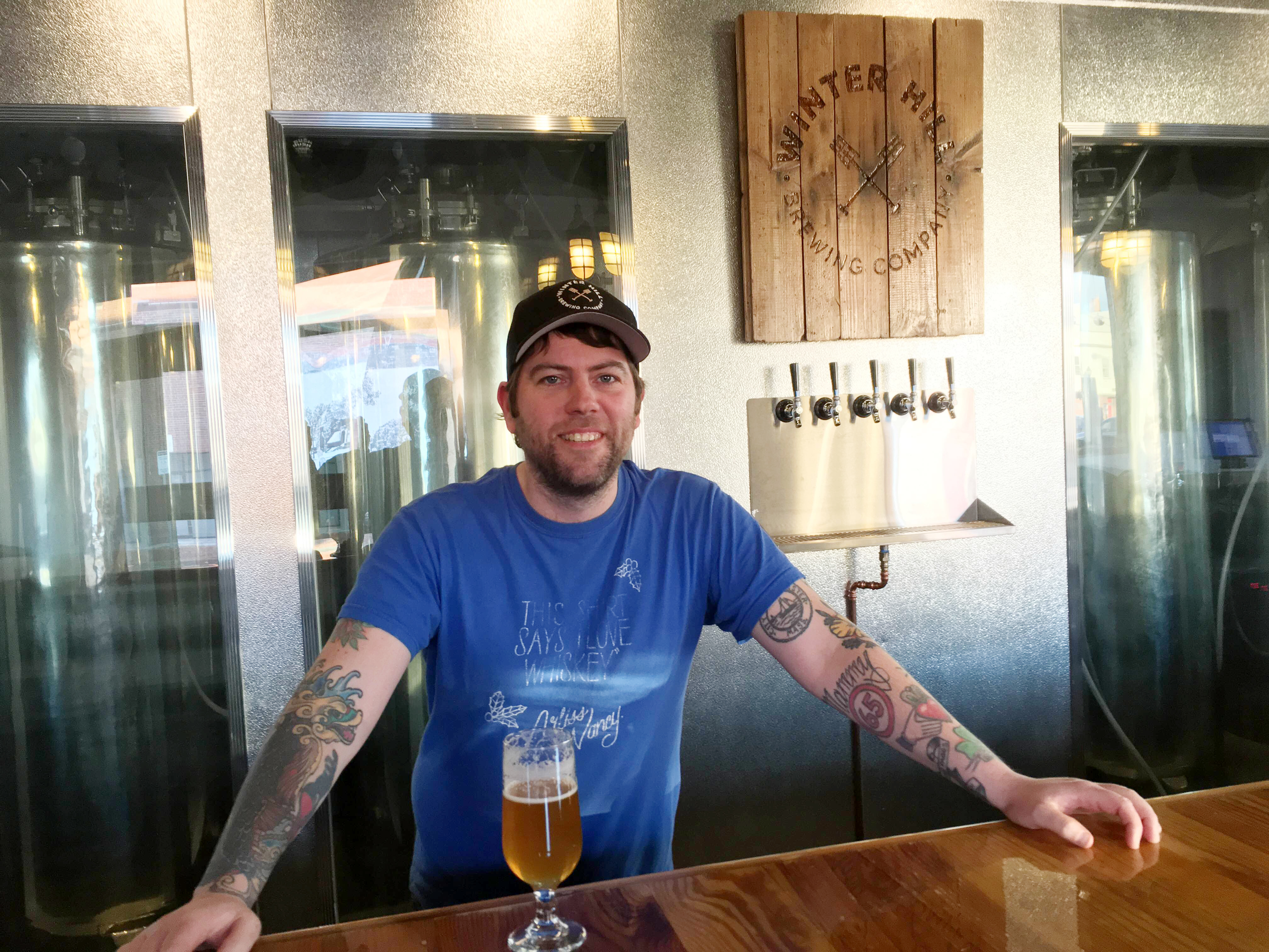 Jeff Rowe at Winter Hill Brewing Company