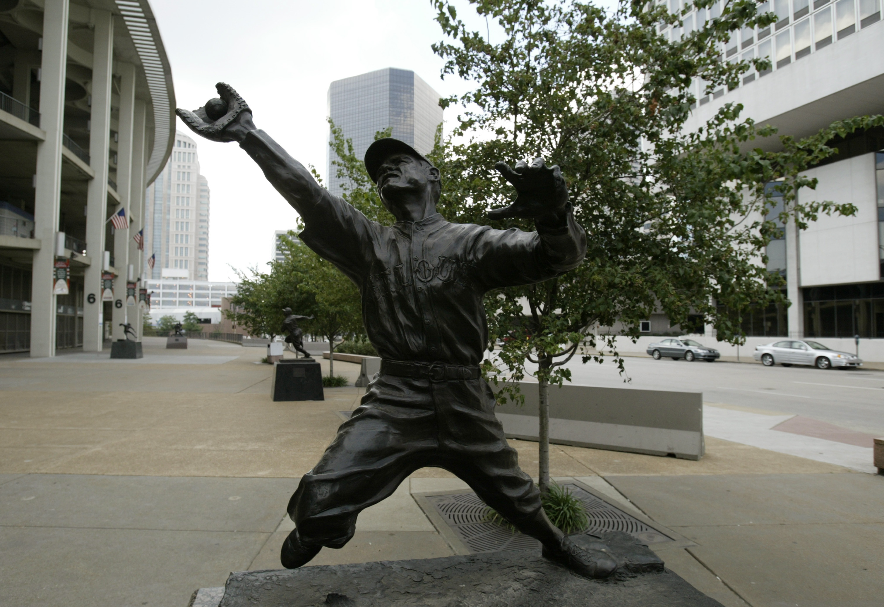 This statue of George Sisler is not outside of Camden Yards, but rather in St. Louis where the Cardinals call home.