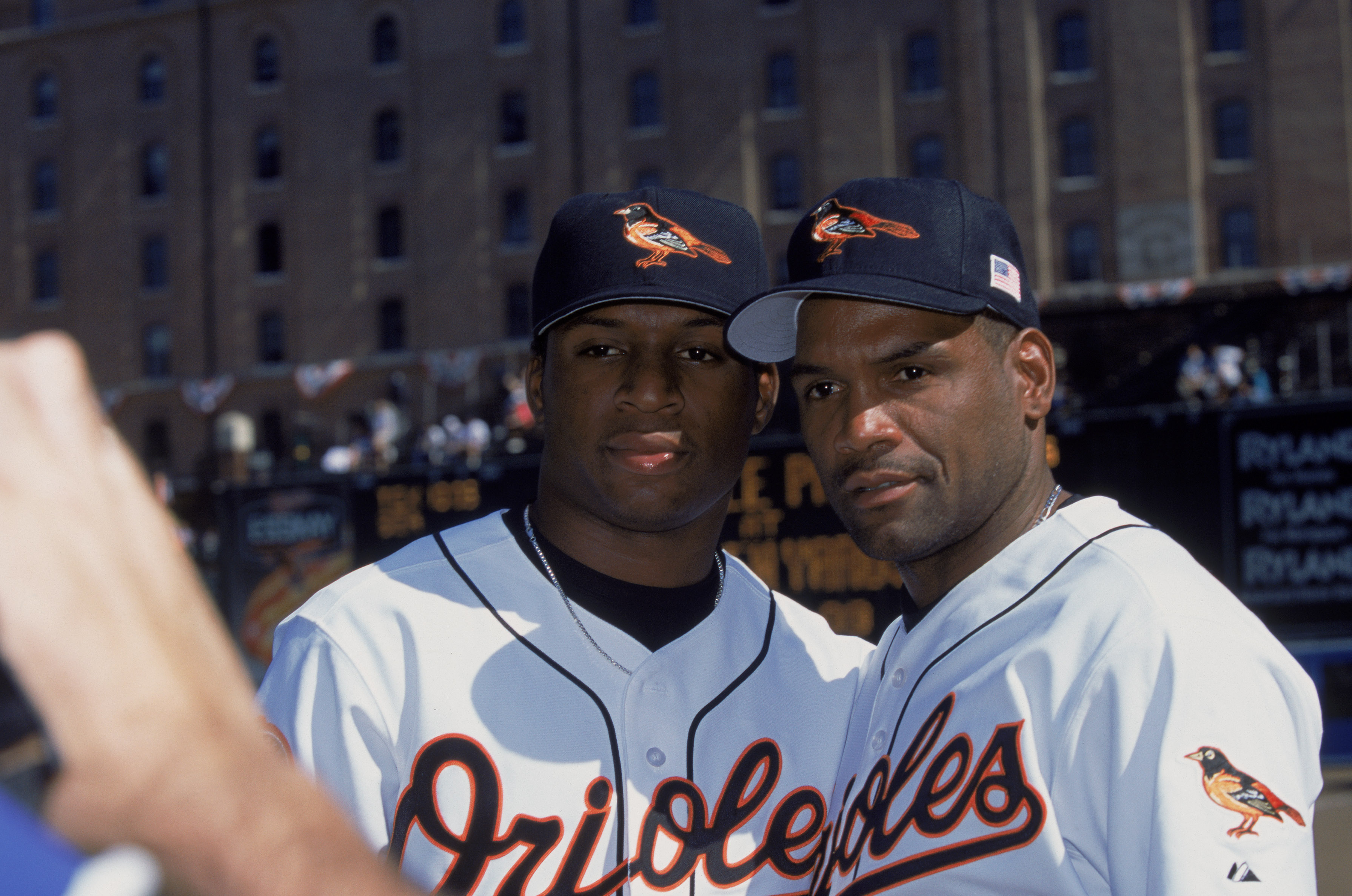 Time Raines Sr. and Tim Raines Jr. once played together for the Orioles.
