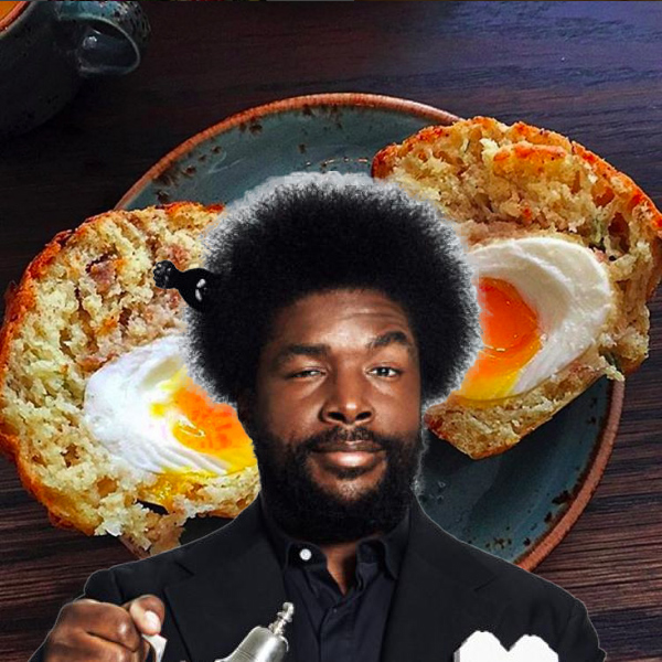 Questlove and his muffin shot.
