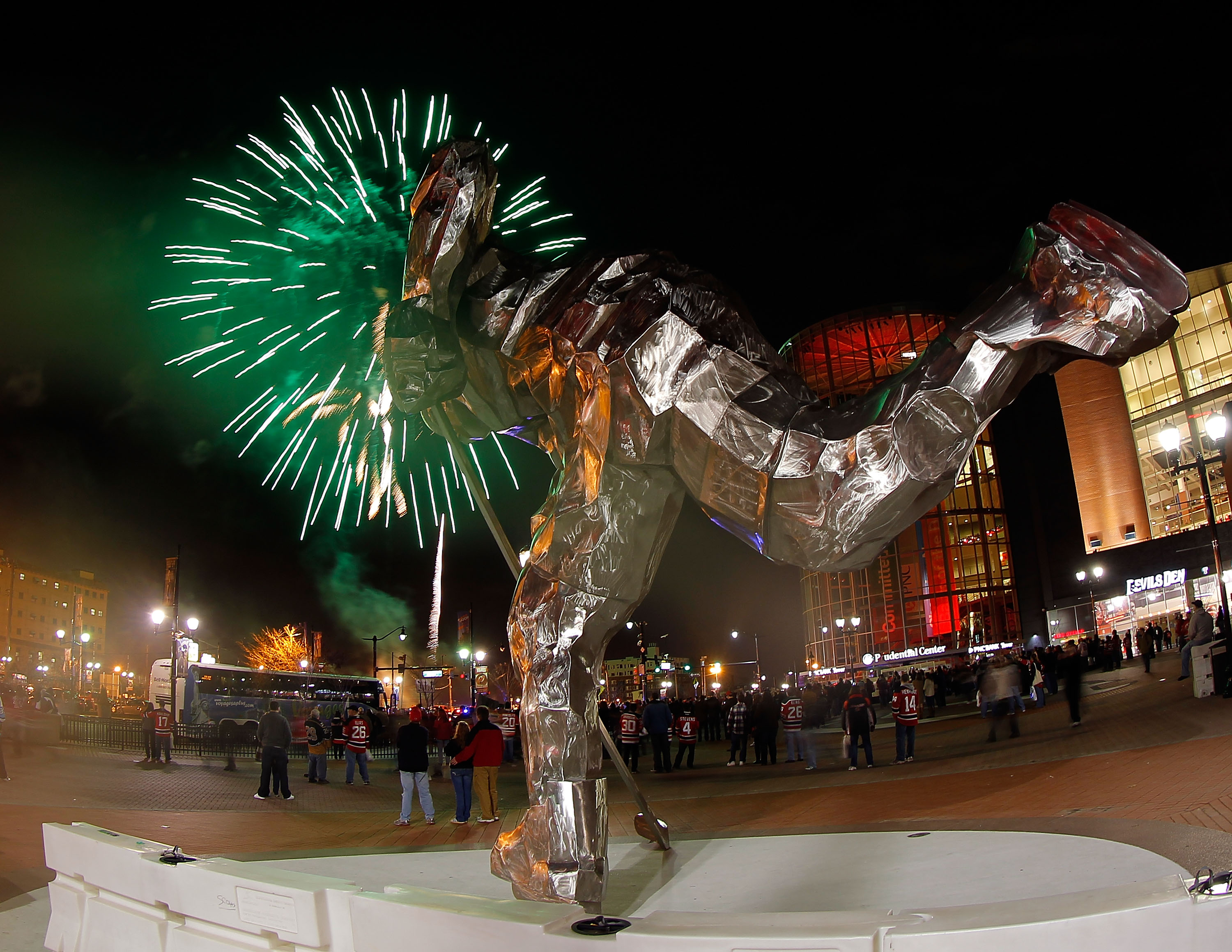 Nice statue. Nice fireworks. Shame about the attendance.