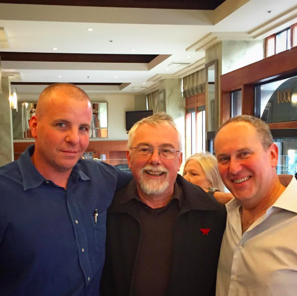 Ken Norris, with chefs Philippe Boulet and Vitaly Paley, pictured late last week at the old Heathman restaurant space