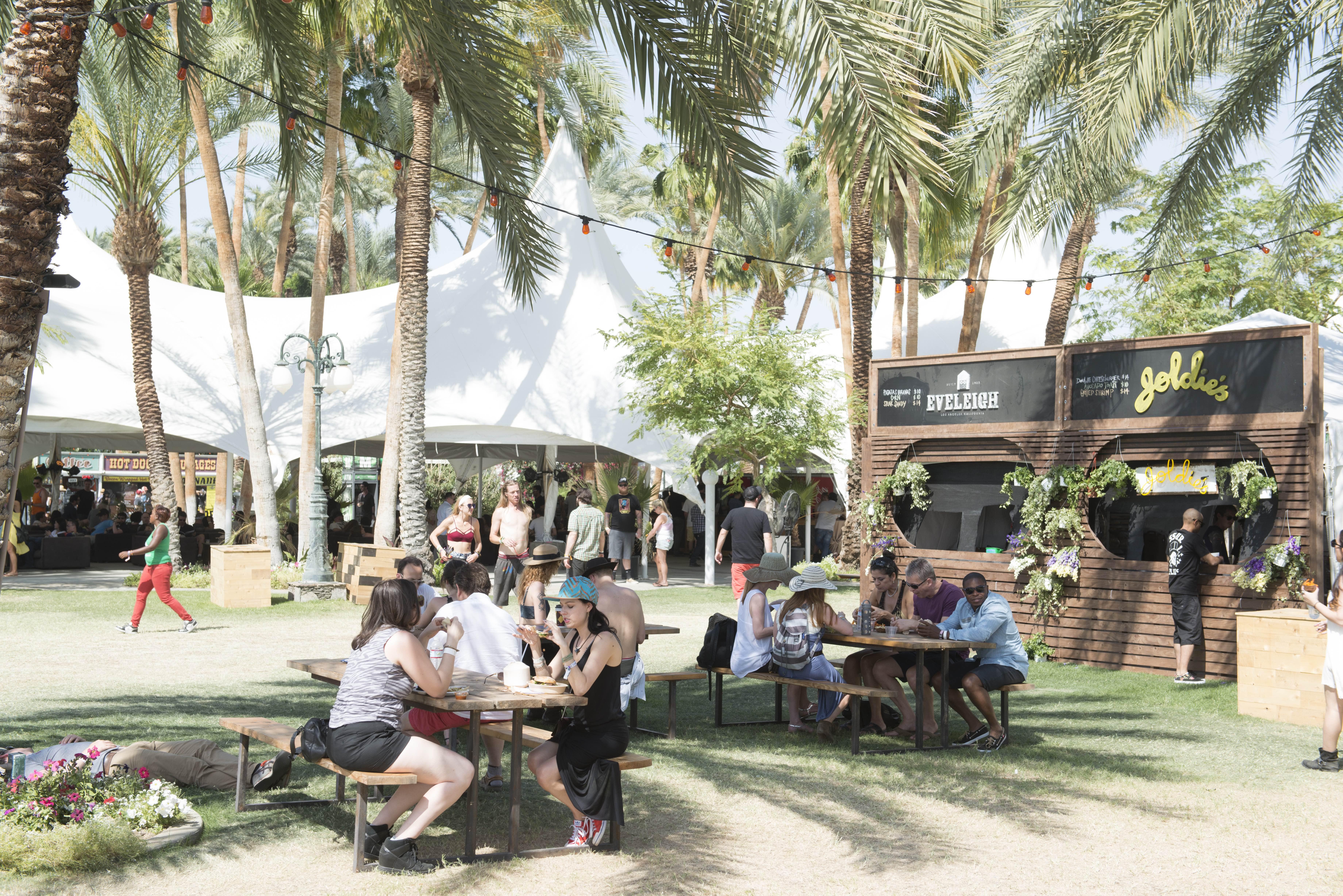 Food stalls at Coachella