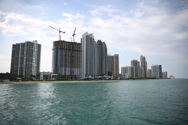 Condo buildings line the beach April 4, 2016, in Sunny Isle, Florida.