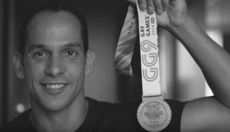 Nuno Costa with his 2014 Gay Games gold medal.