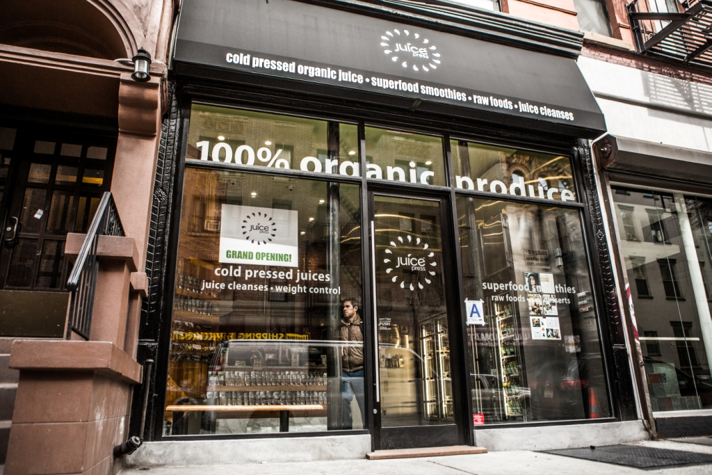 A Juice Press storefront in New York
