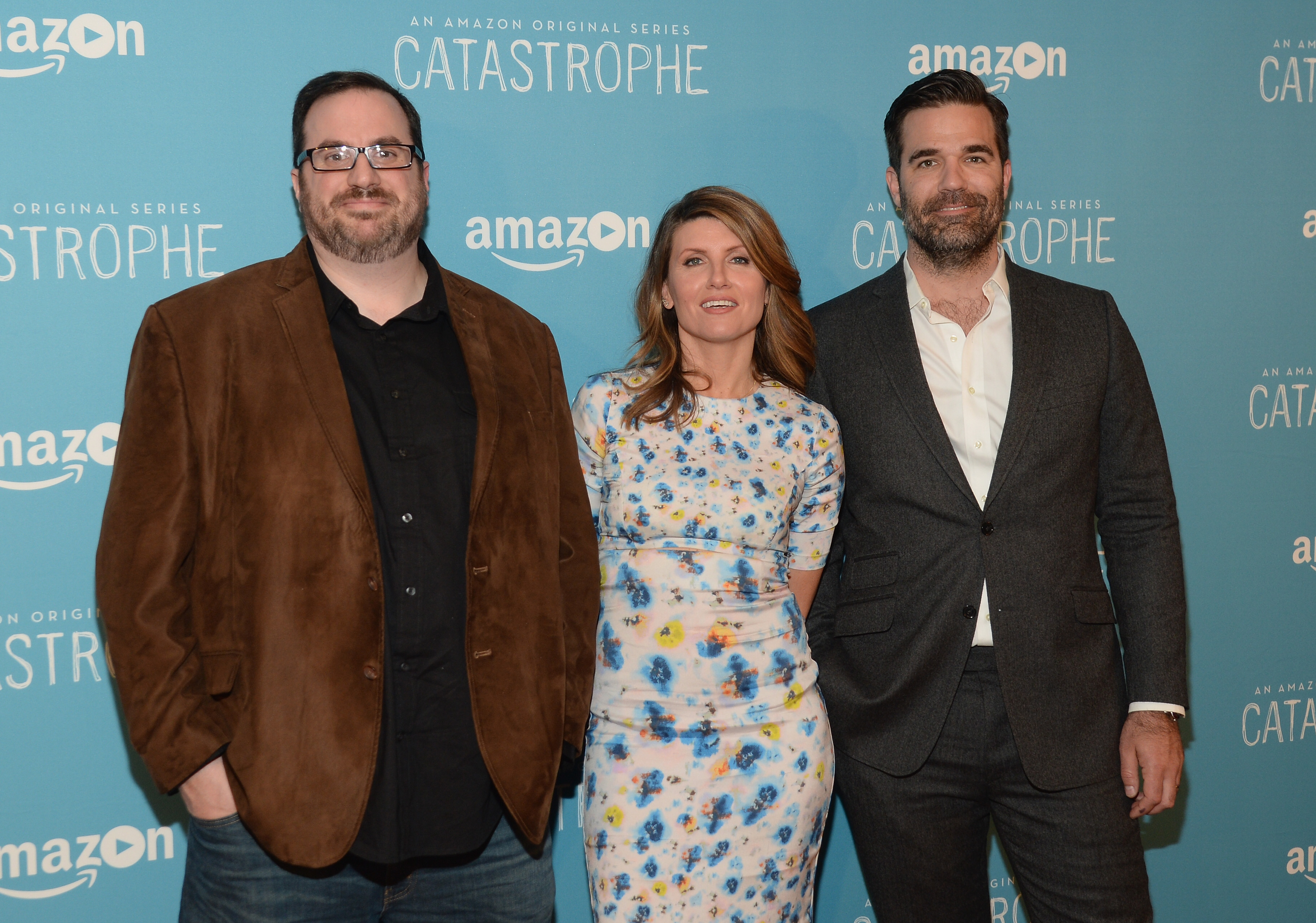 TV critic Alan Sepinwall with Sharon Horgan and Rob Delaney (L to R)