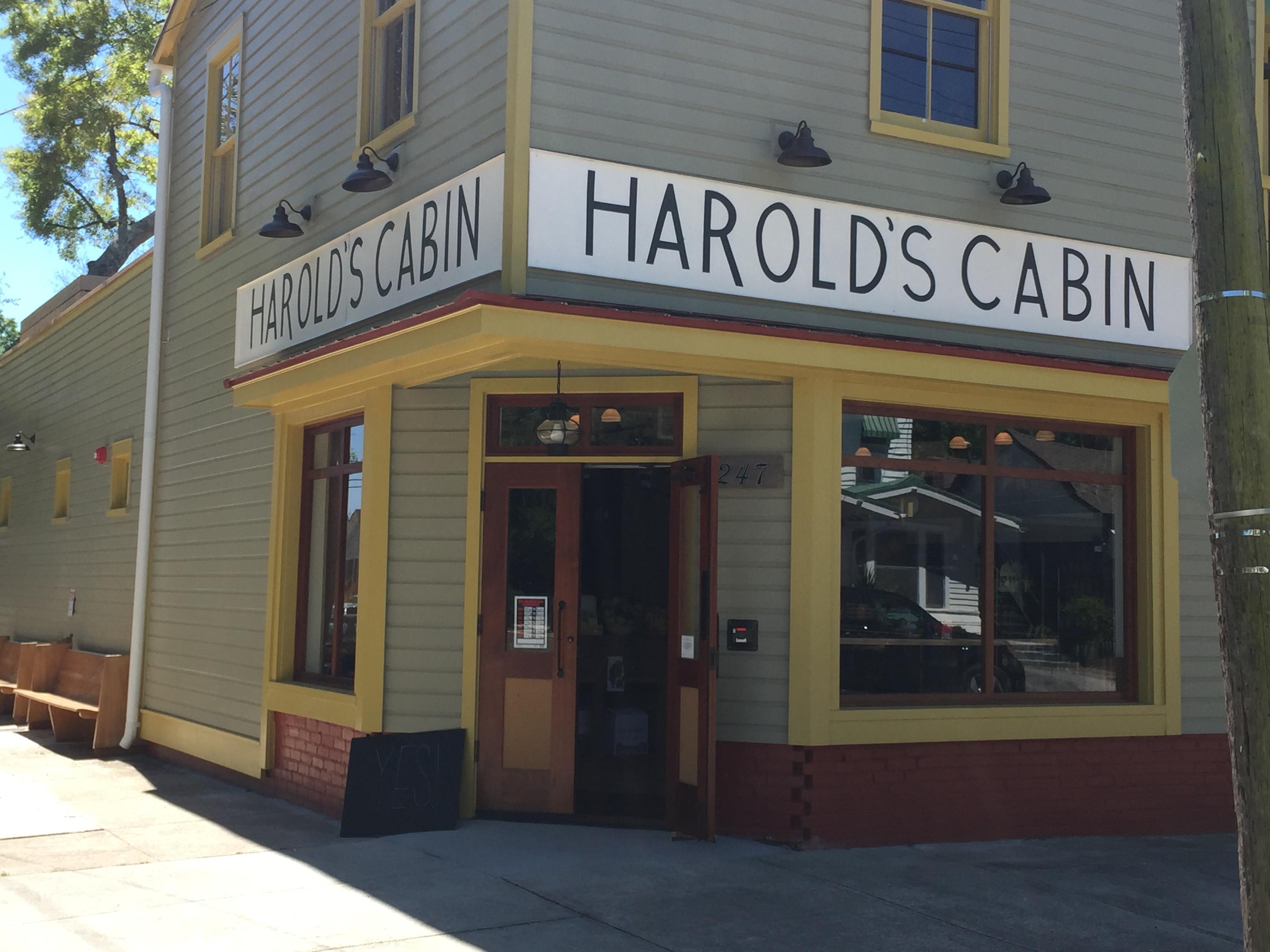 Harold's Cabin with doors open