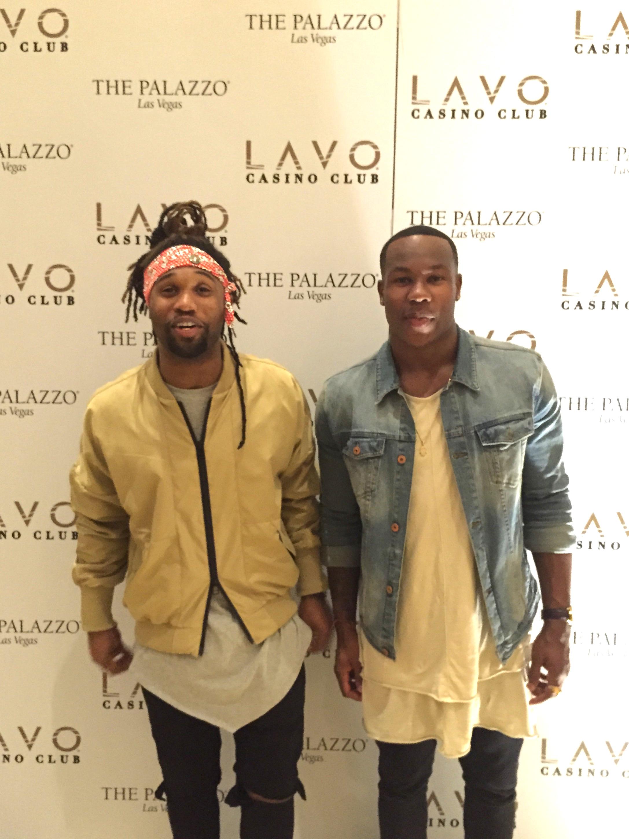 Omar Bolden and Duke Ihenacho at Lavo Casino Club