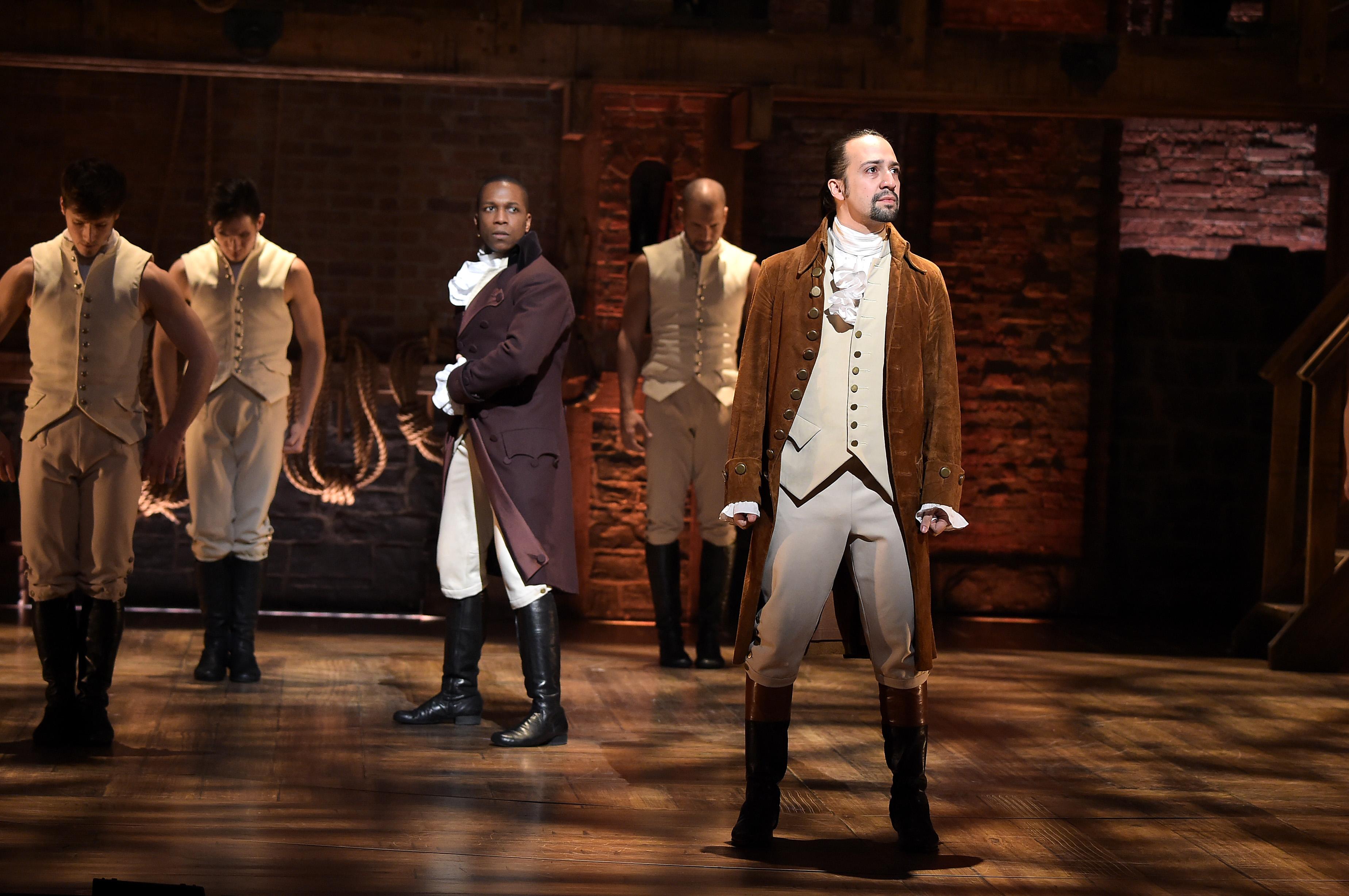 Leslie Odom, Jr. as Aaron Burr and Lin-Manuel Miranda as Alexander Hamilton