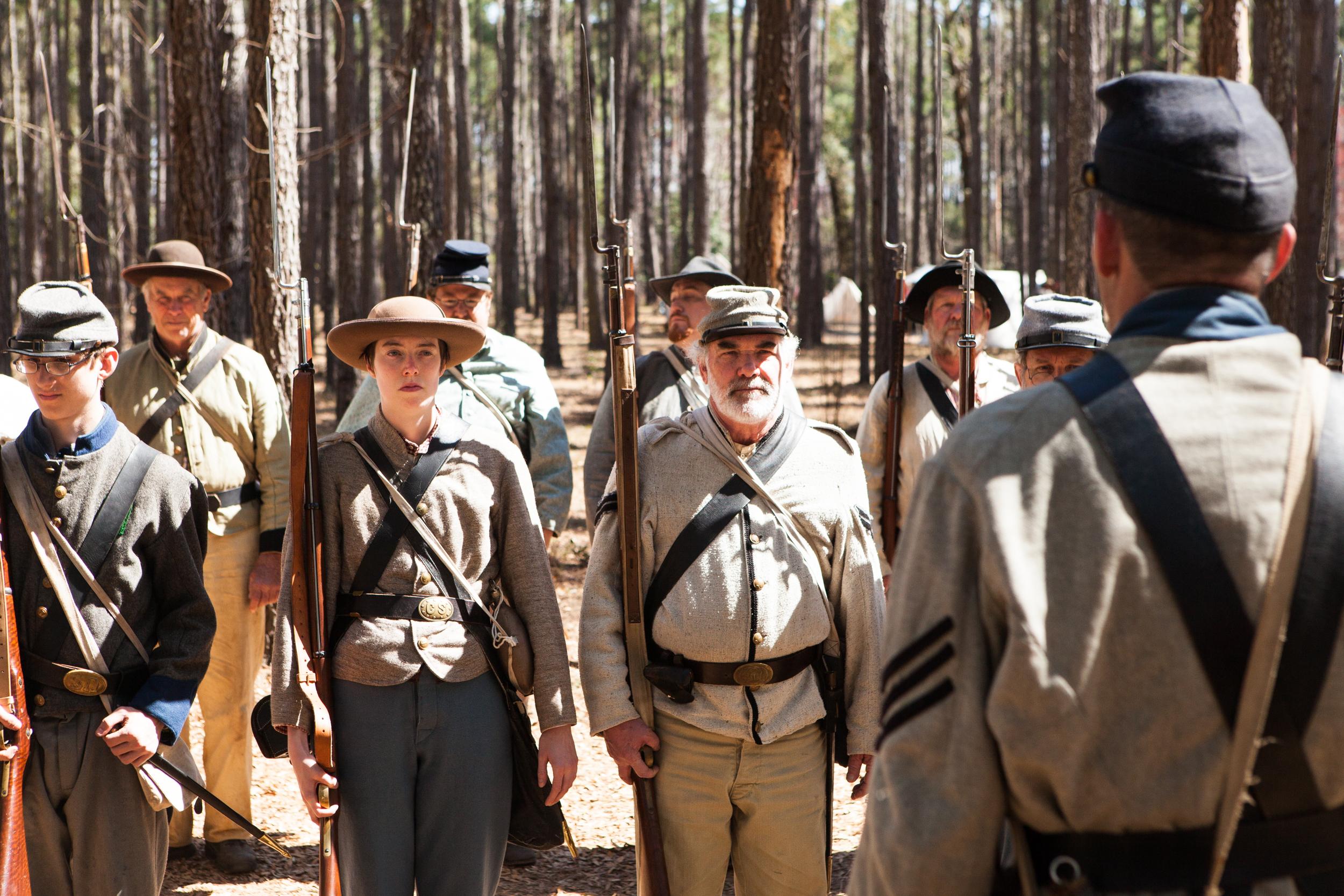 Confederate reenactors at the Battle for Broxton Bridge.