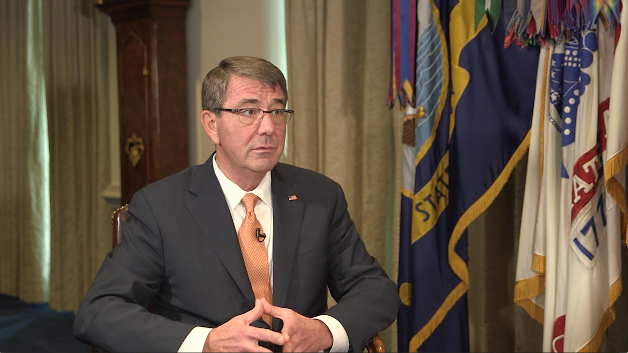 Ashton Carter speaks to Vox at the Pentagon.