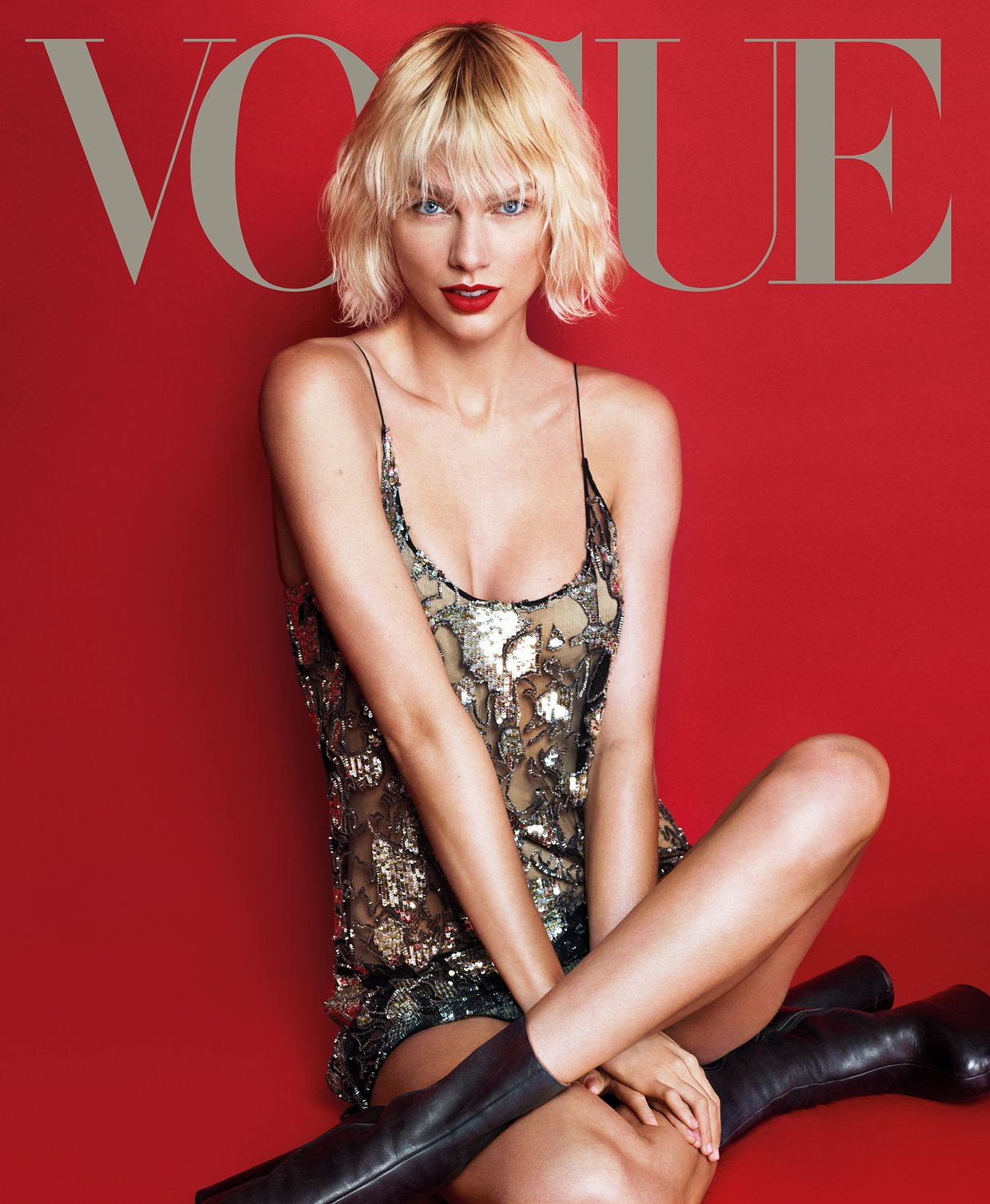 Taylor Swift Looks Unrecognizable on the Cover of Vogue
