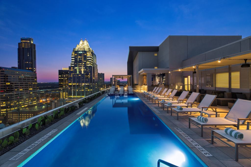 Westin Austin Downtown's Fancy Rooftop Pool Bar Is Now Open To Public