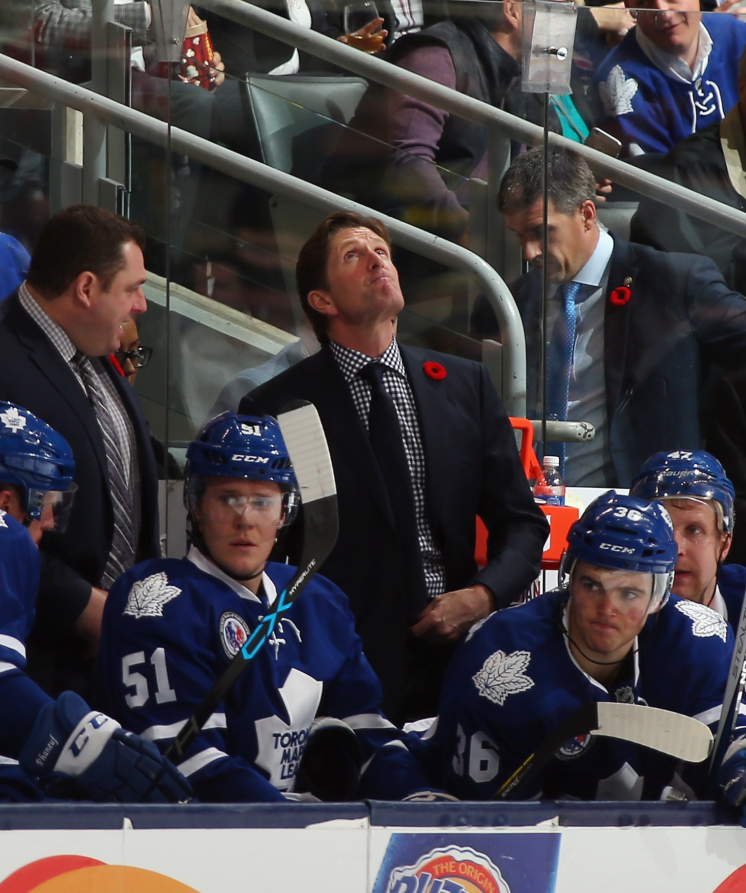 """""""So... that's what playoff hockey looks like... I miss that..."""" - Mike Babcock (or some other Mike)"""
