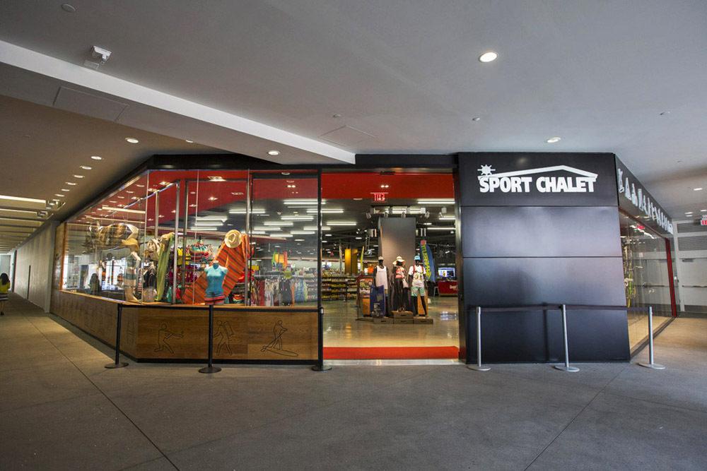 Sport Chalet's DTLA location.