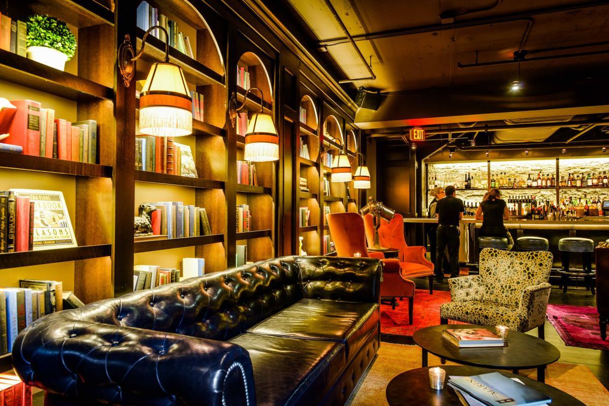 Inside the Library Bar at Marin