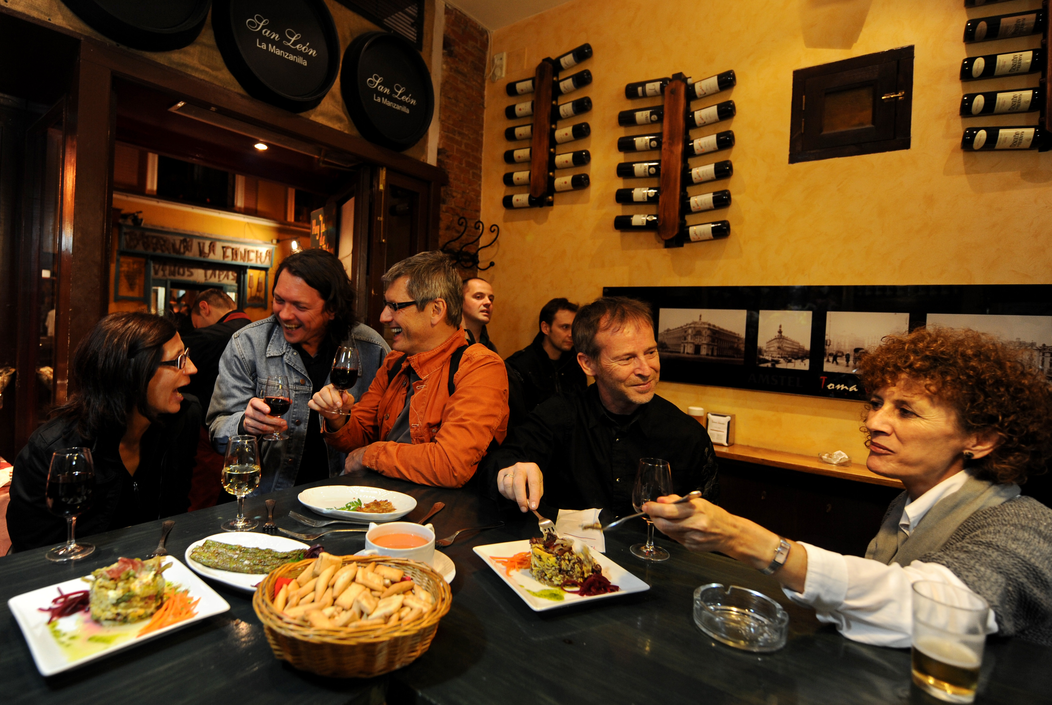 Traditional tapas in Spain