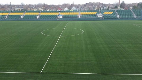 New turf installed in time for Rochester's home opener on April 23.