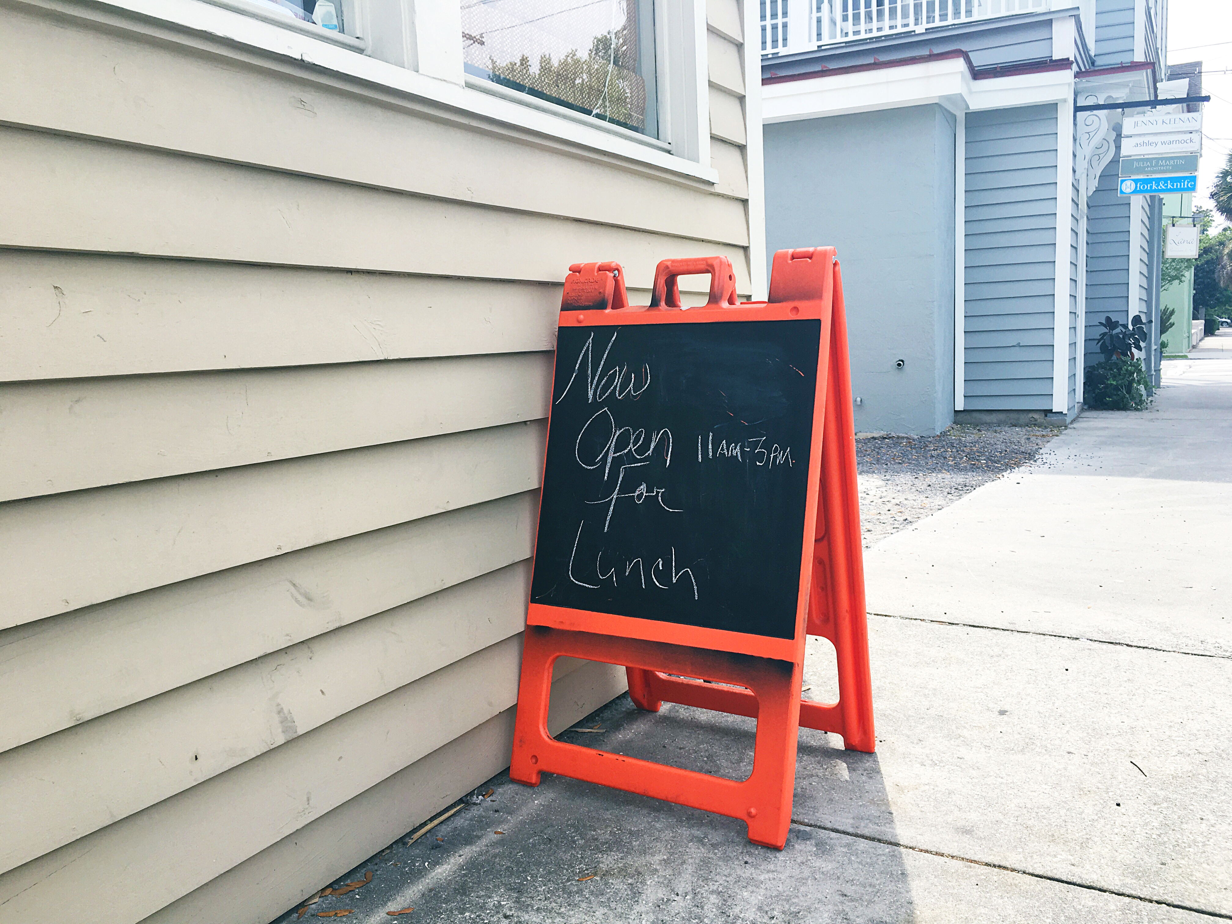 Sign at R. Kitchen