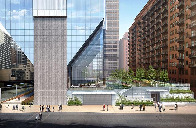 A rendering of 150 N. Riverside Plaza.