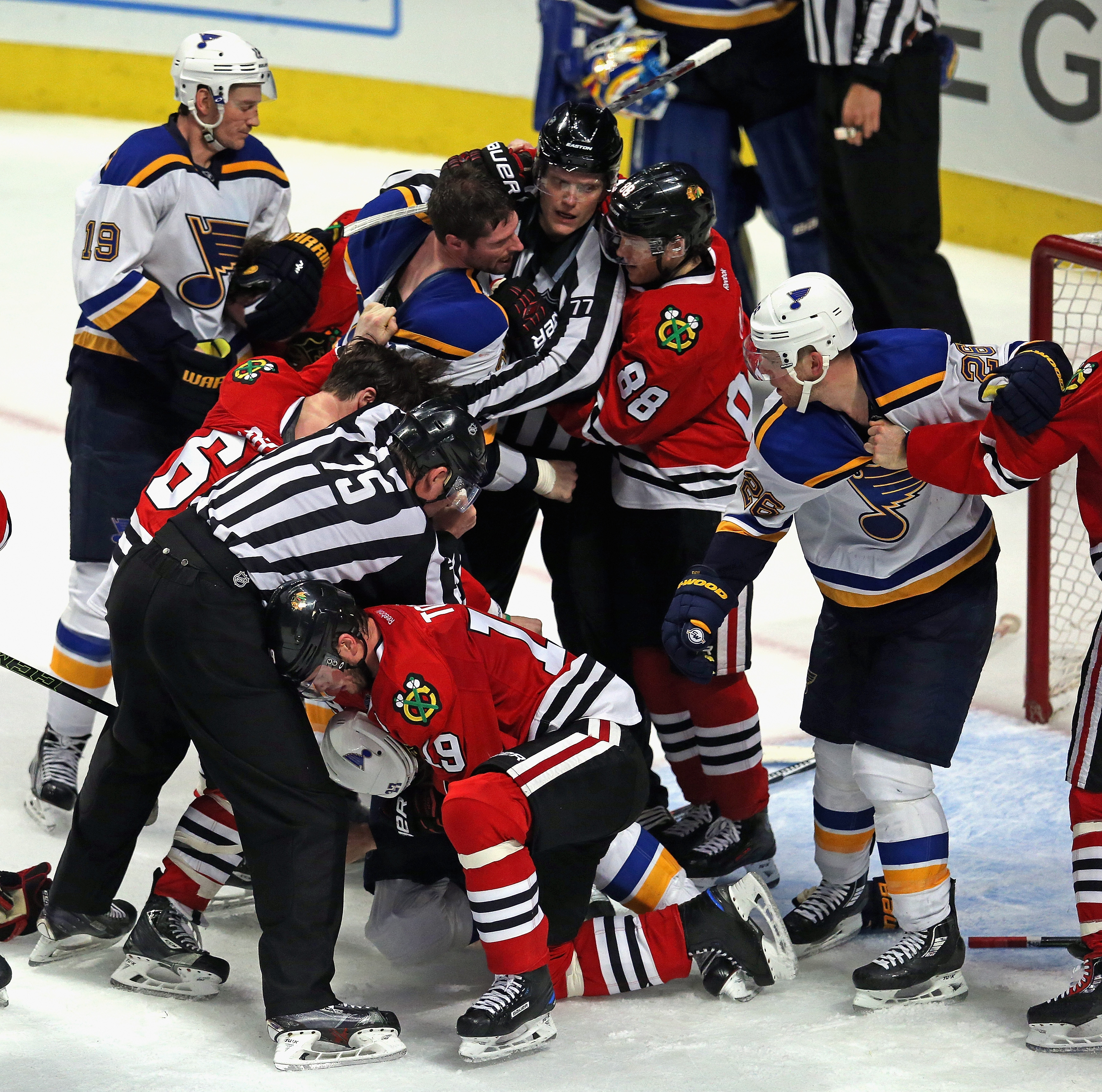 Pictured: Noted goons Patrick Kane and Jonathan Toews.