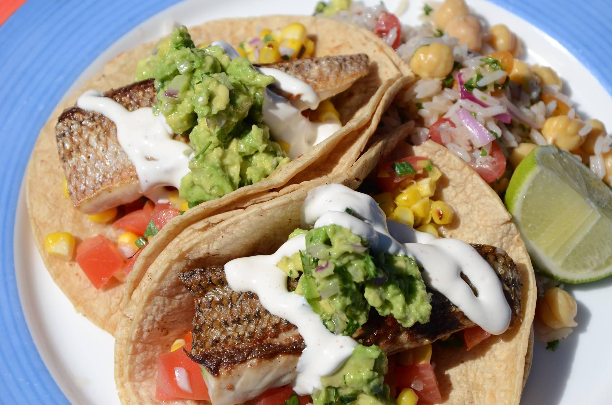 fish tacos at Surfside