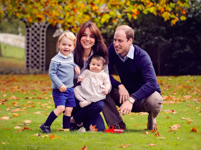 The royal family's most recent Christmas card.