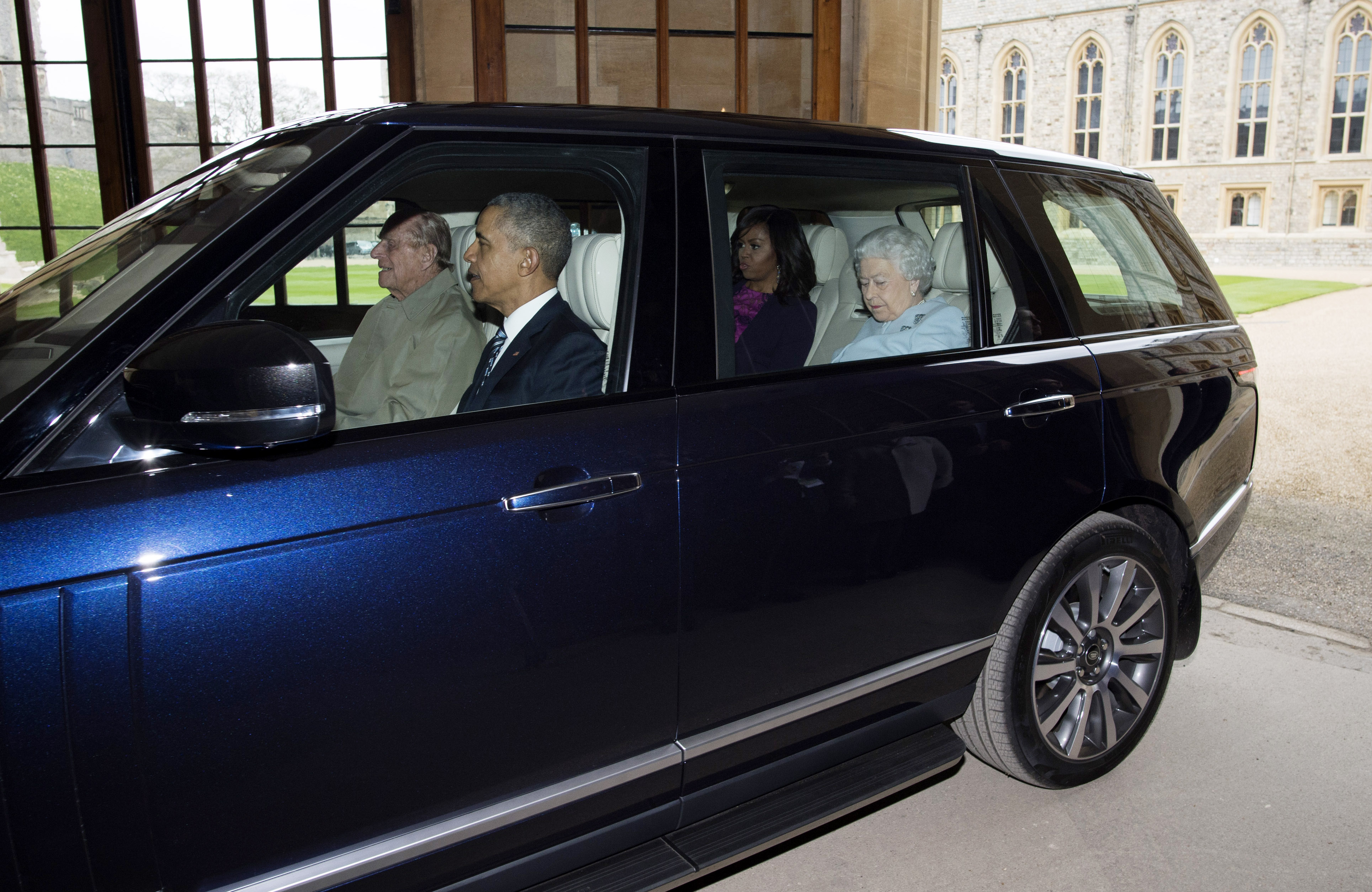 photo of Michelle Obama  - car