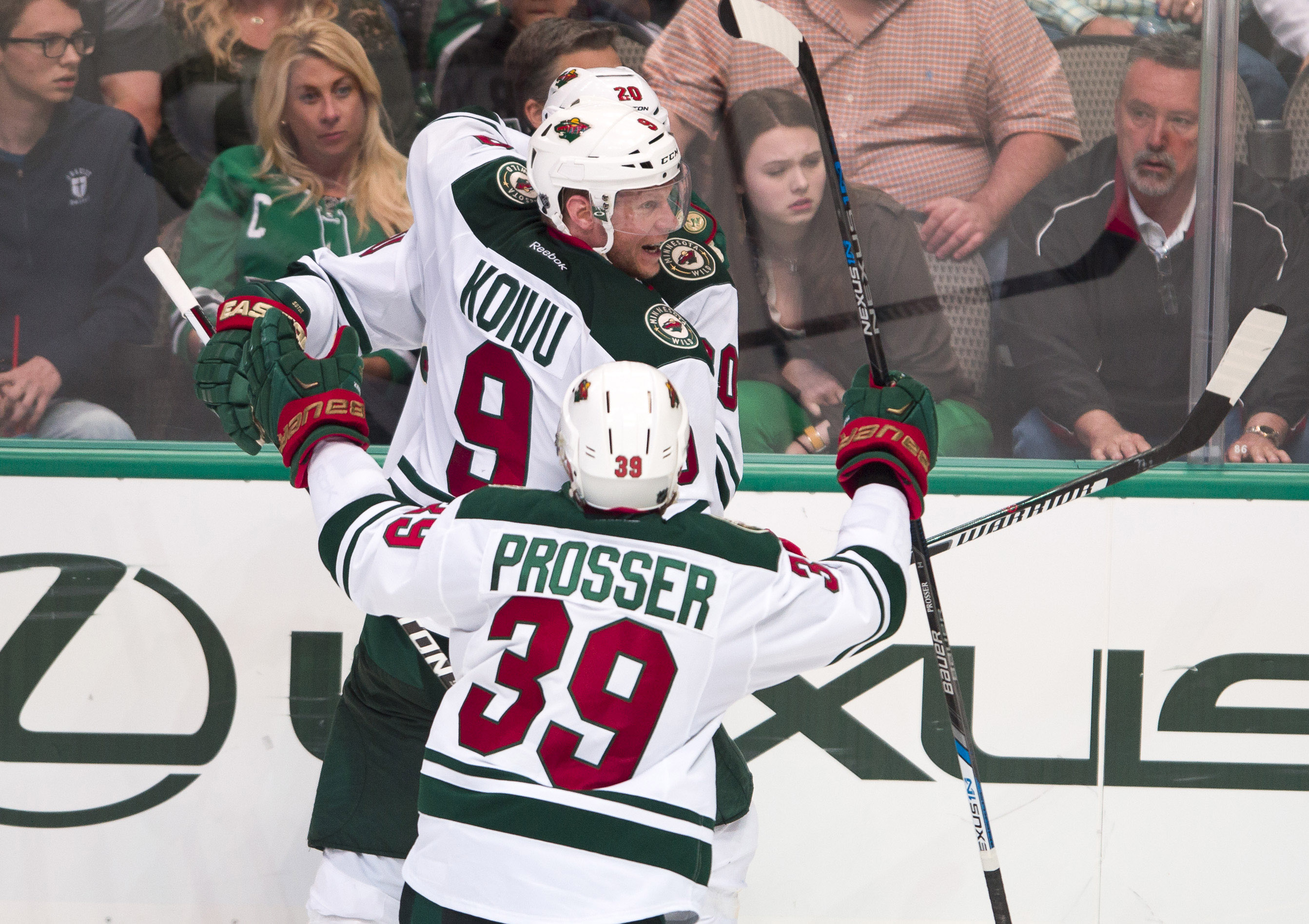"""In case you've never seen this before, it's called """"Joy on Mikko Koivu's face""""."""
