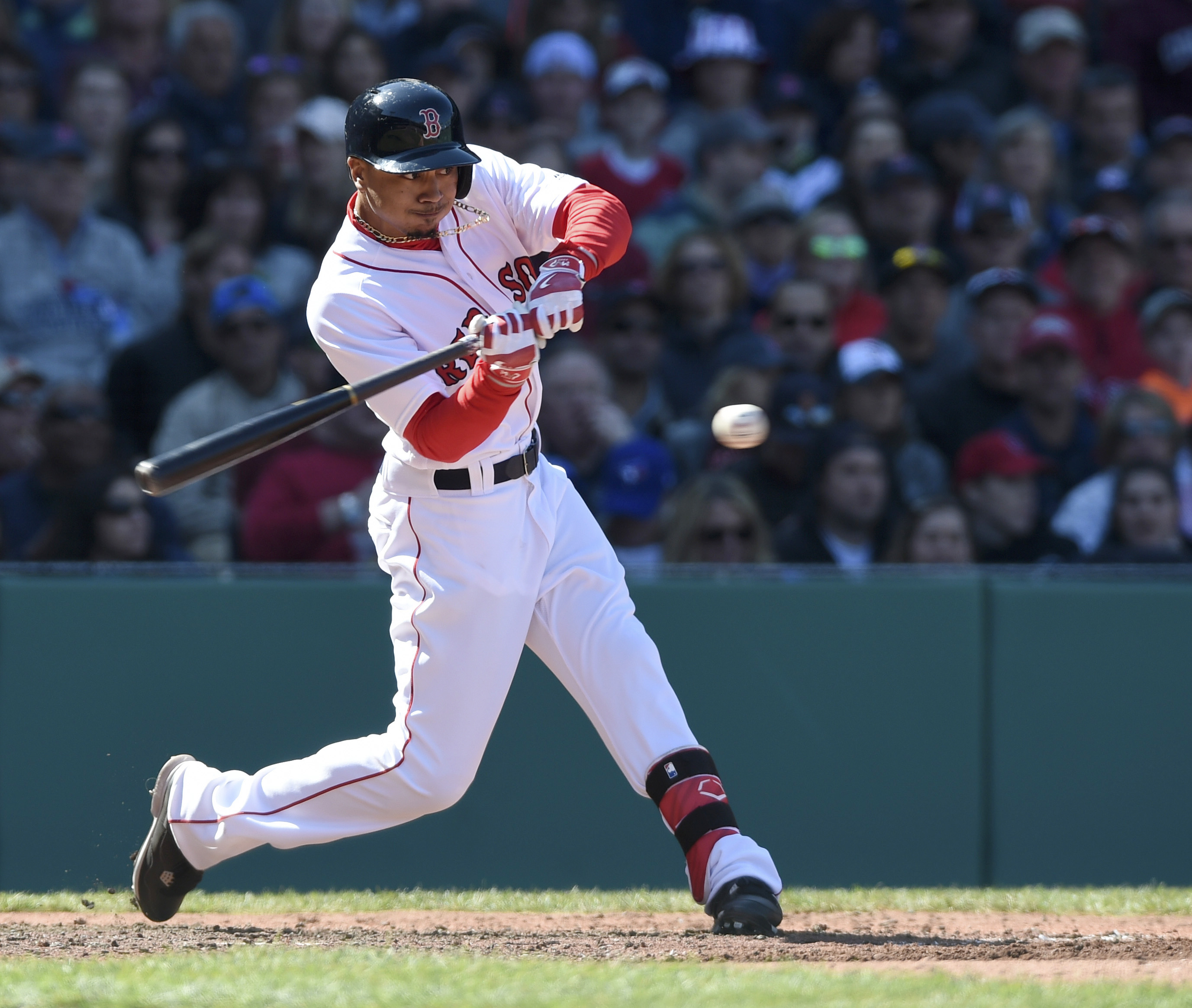 Red Sox outfielder Mookie Betts.