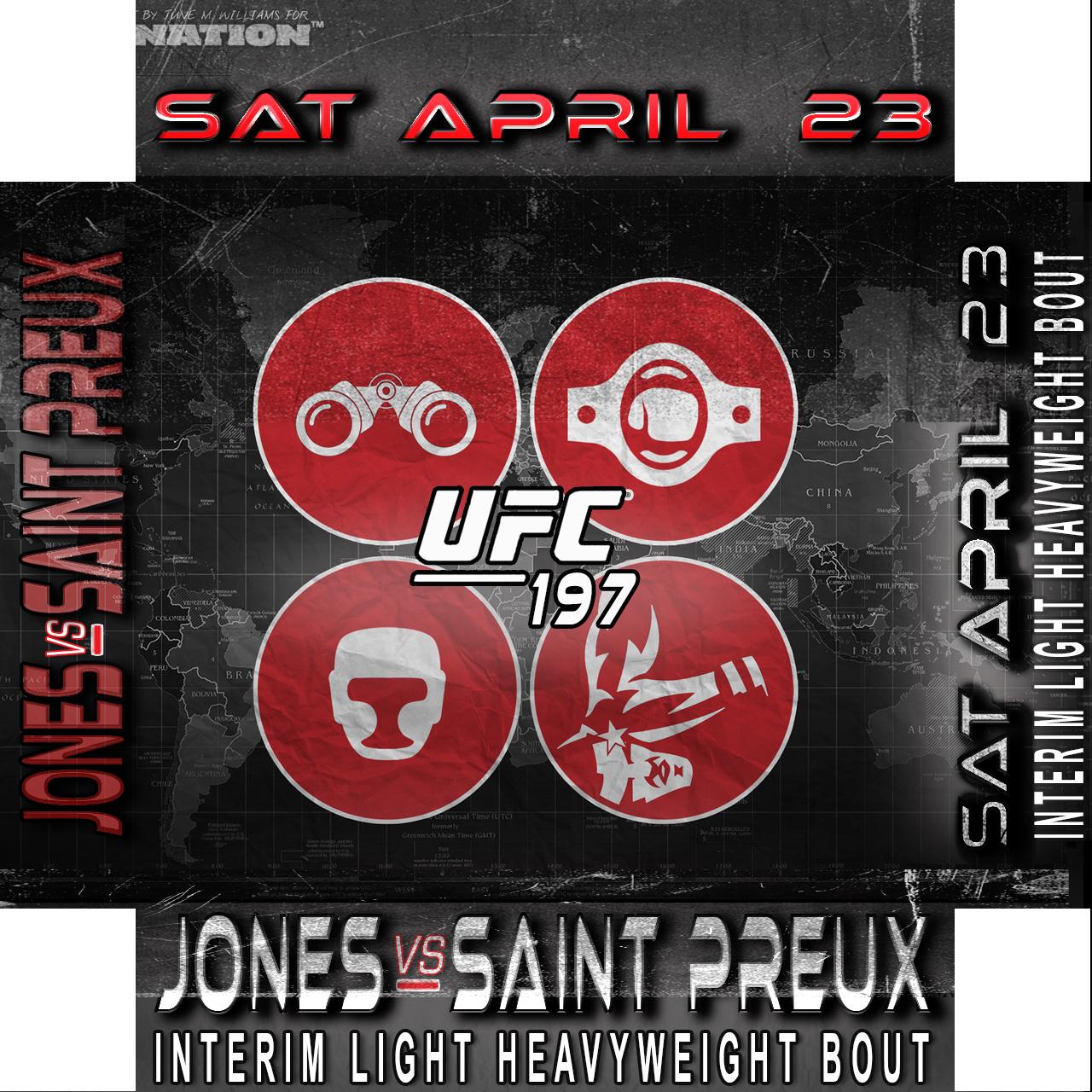 MMA Prospectus, UFC 197, Jones vs St. Preux