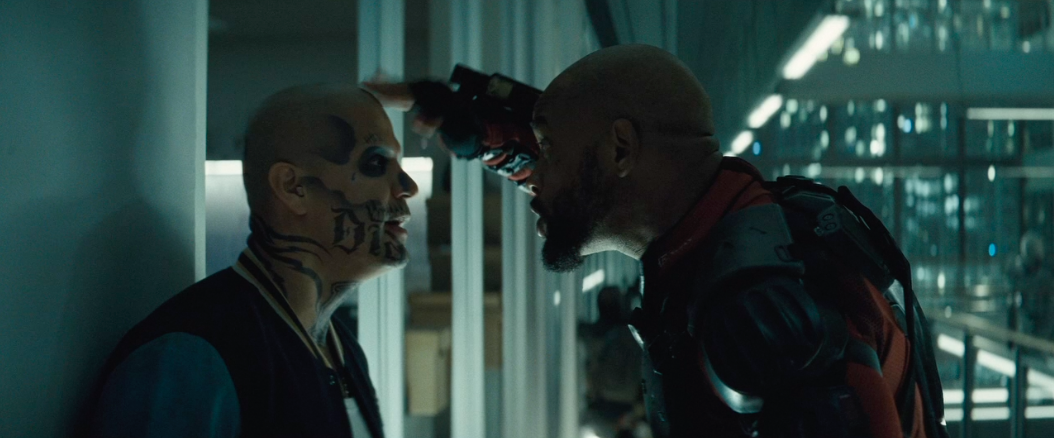 Will Smith as Deadshot, instigating El Diablo (Jay Hernandez)