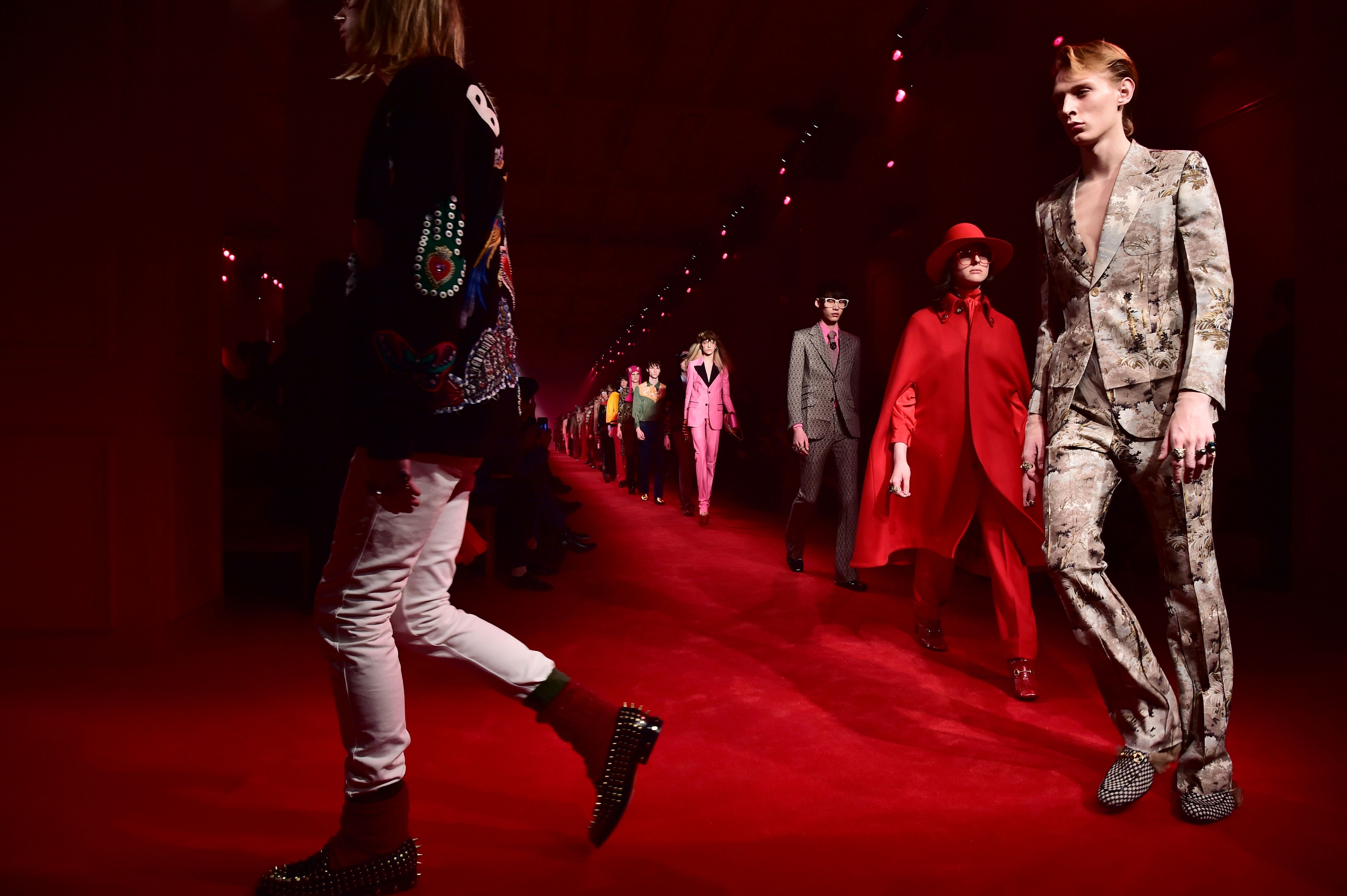 Gucci's fall 2016 men's show in January. Photo: Giuseppe Cacace/Getty Images