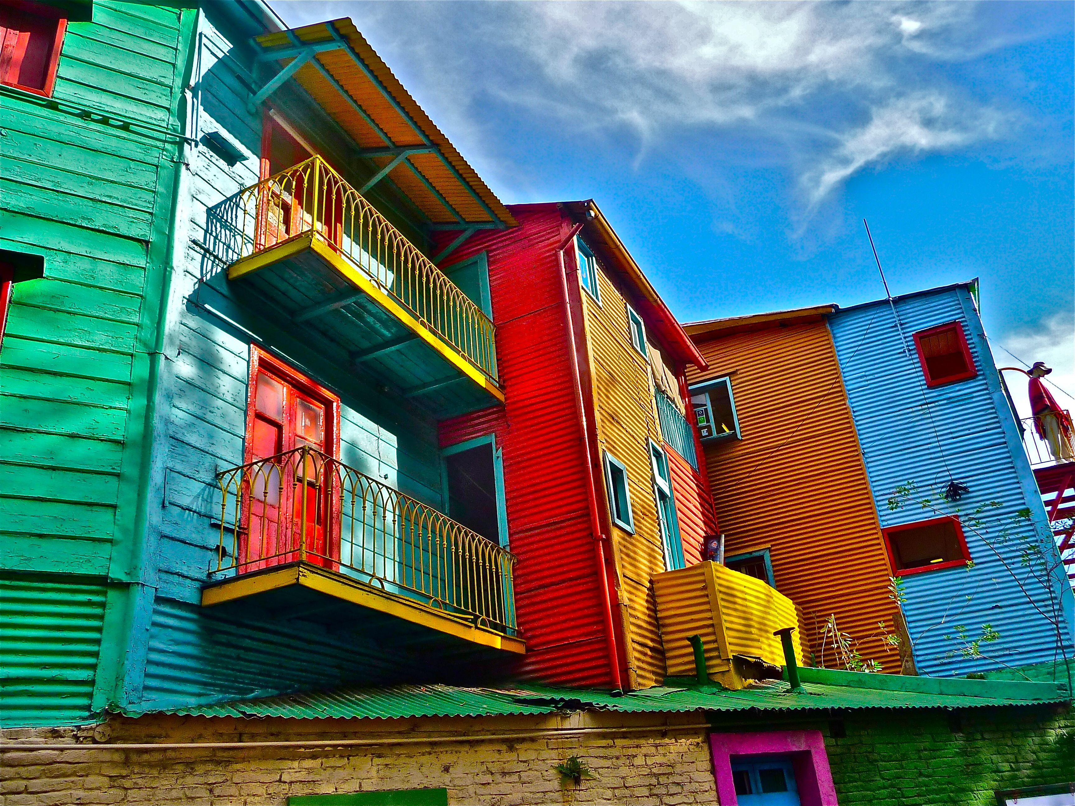 The cheap Argentine peso means that it's unusually inexpensive right now to visit the famous La Boca neighborhood in Buenos Aires.