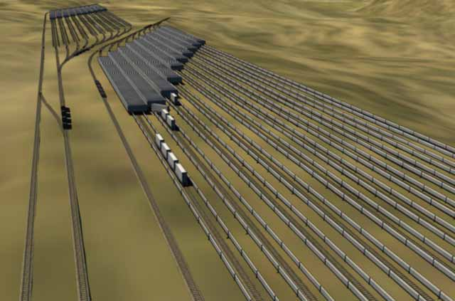 The train goes up, the train goes down: a simple new way to store energy