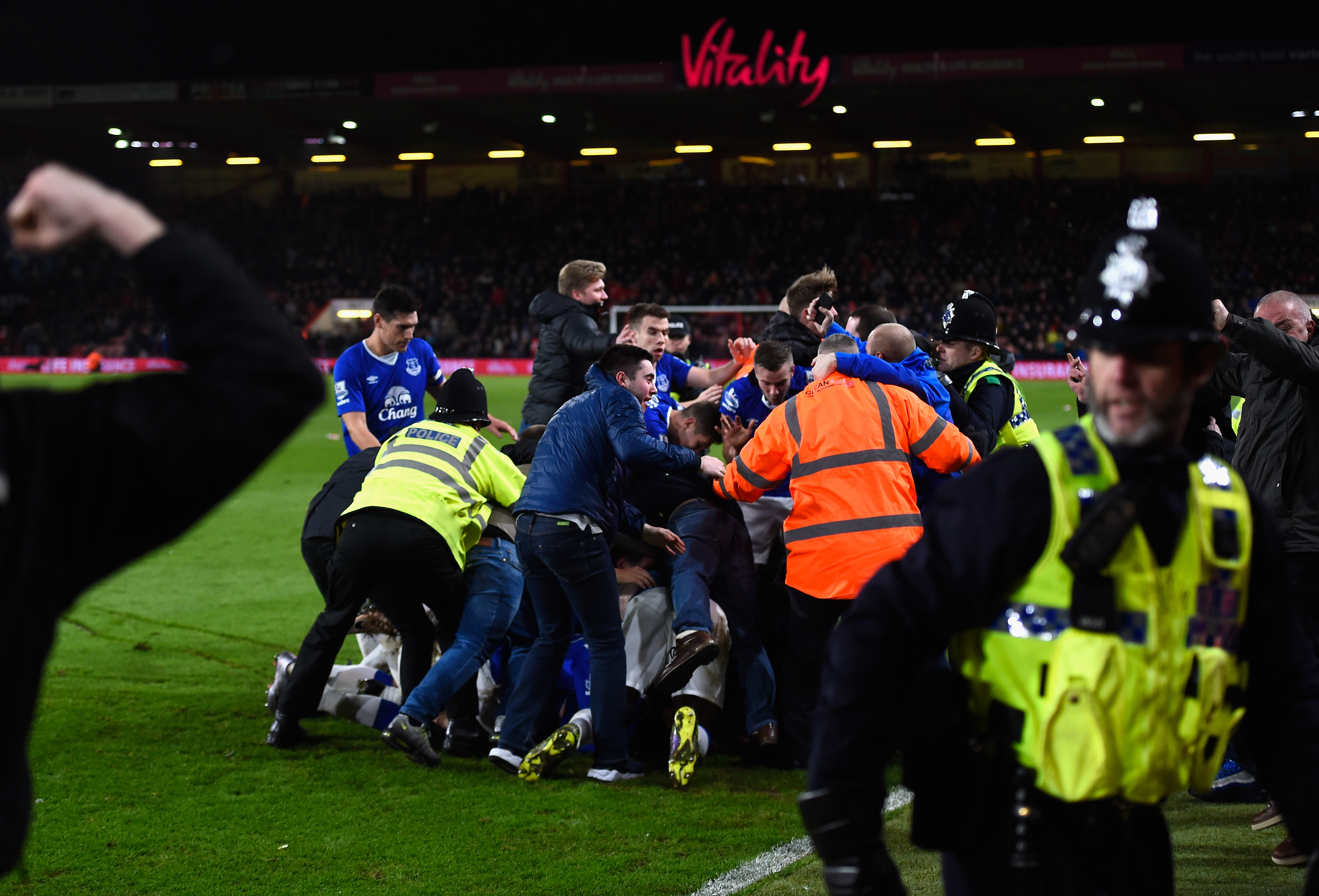 I never want to see an Everton pitch invasion again. Ever.