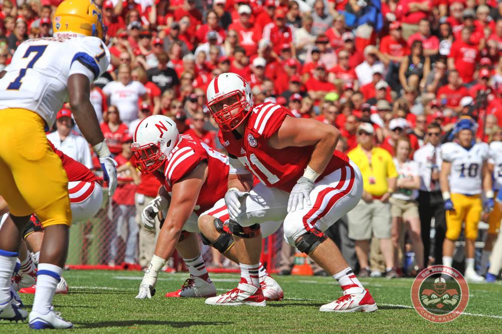 Nebraska tackle Alex Lewis