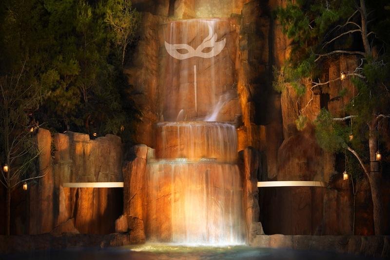 Intrigue Nightclub waterfall