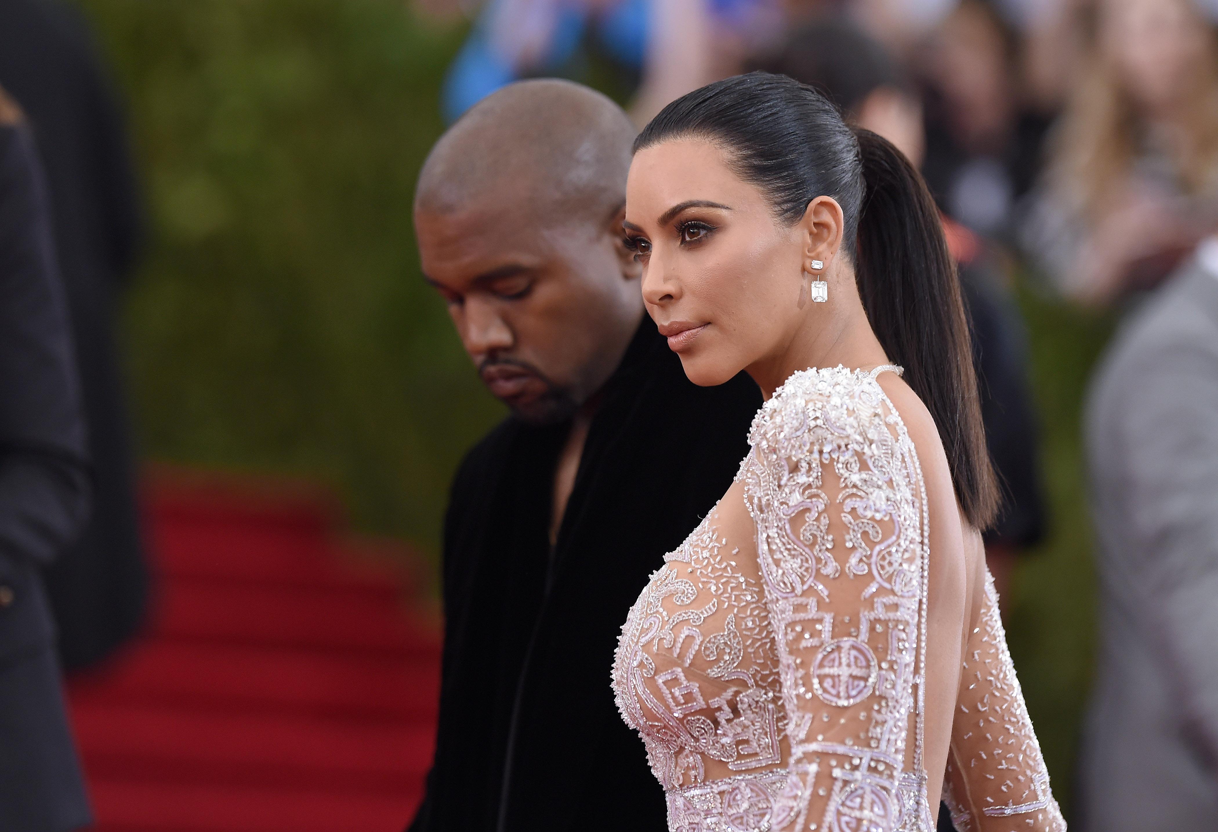 Kim and Kanye at last year's Met Gala.