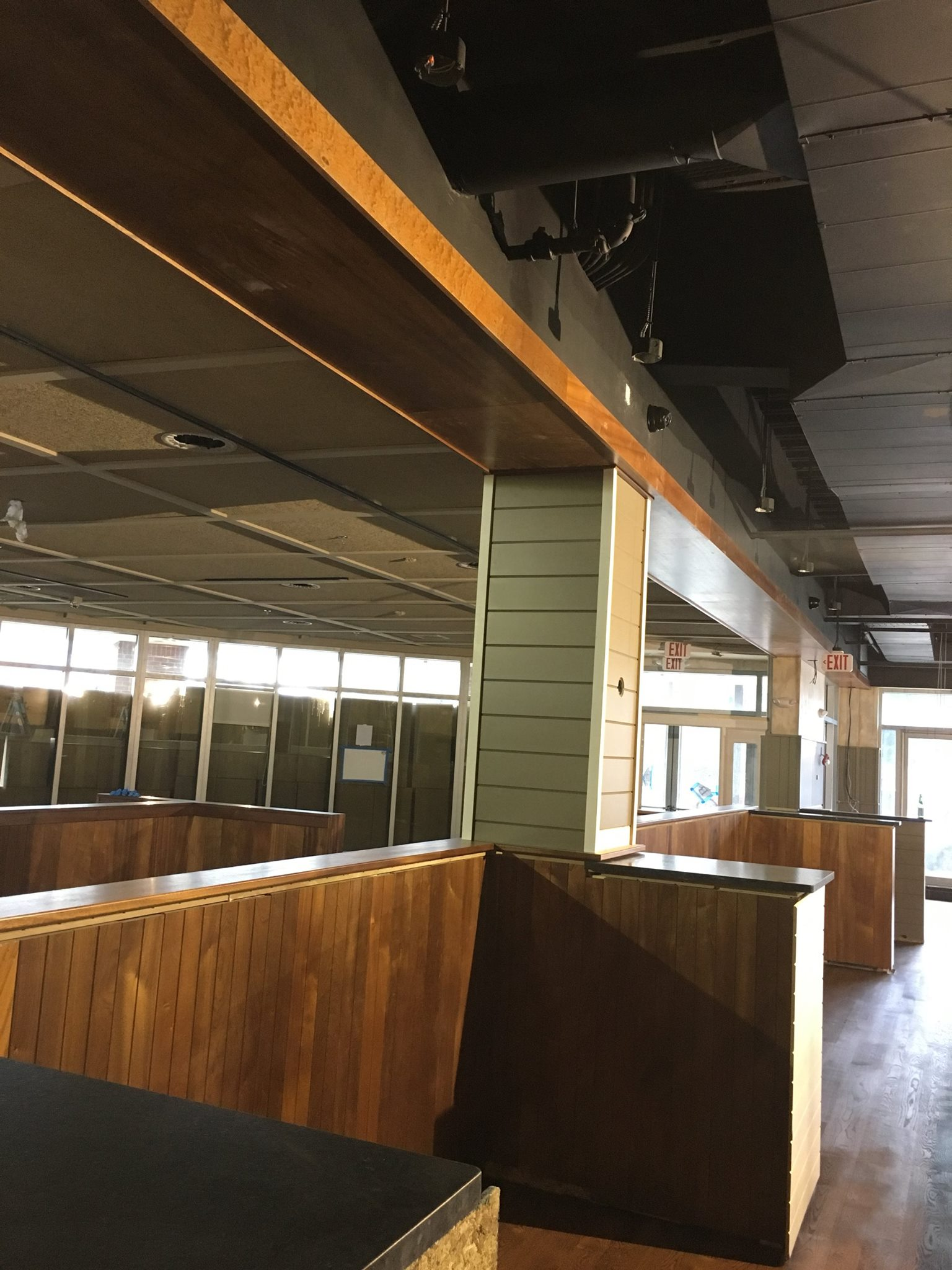 Blackmoor Bar + Kitchen construction