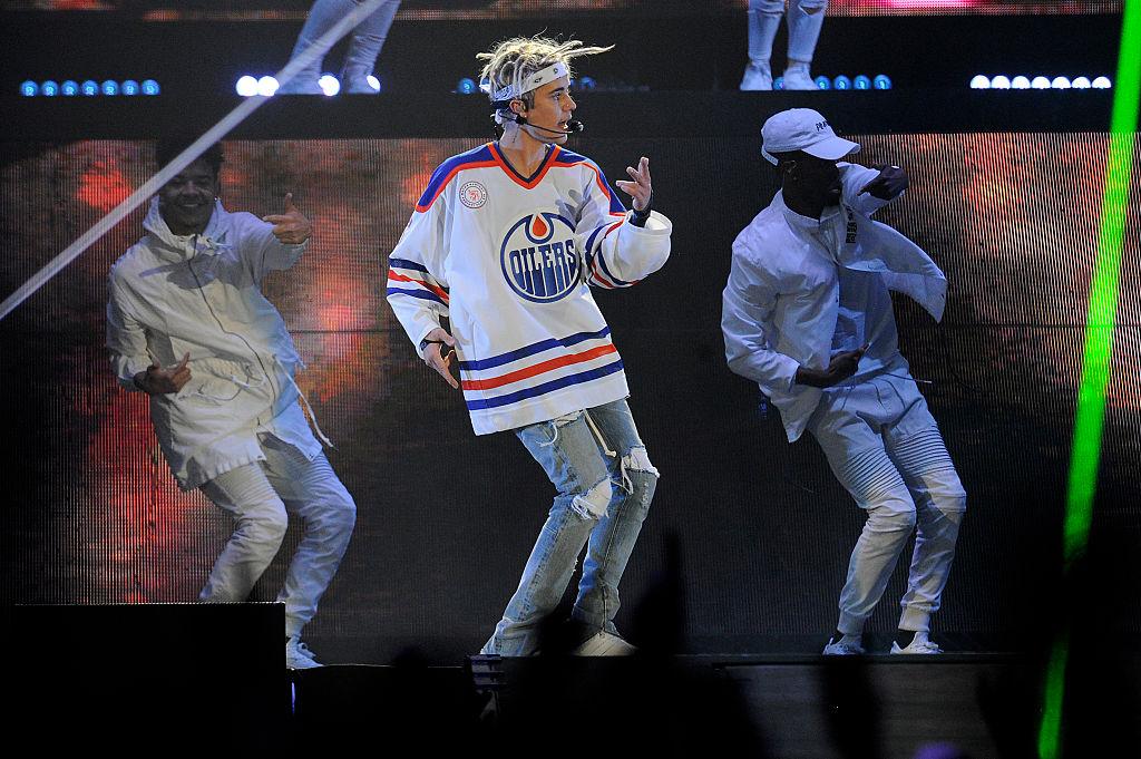 Bieber performing in Denver on April 4th