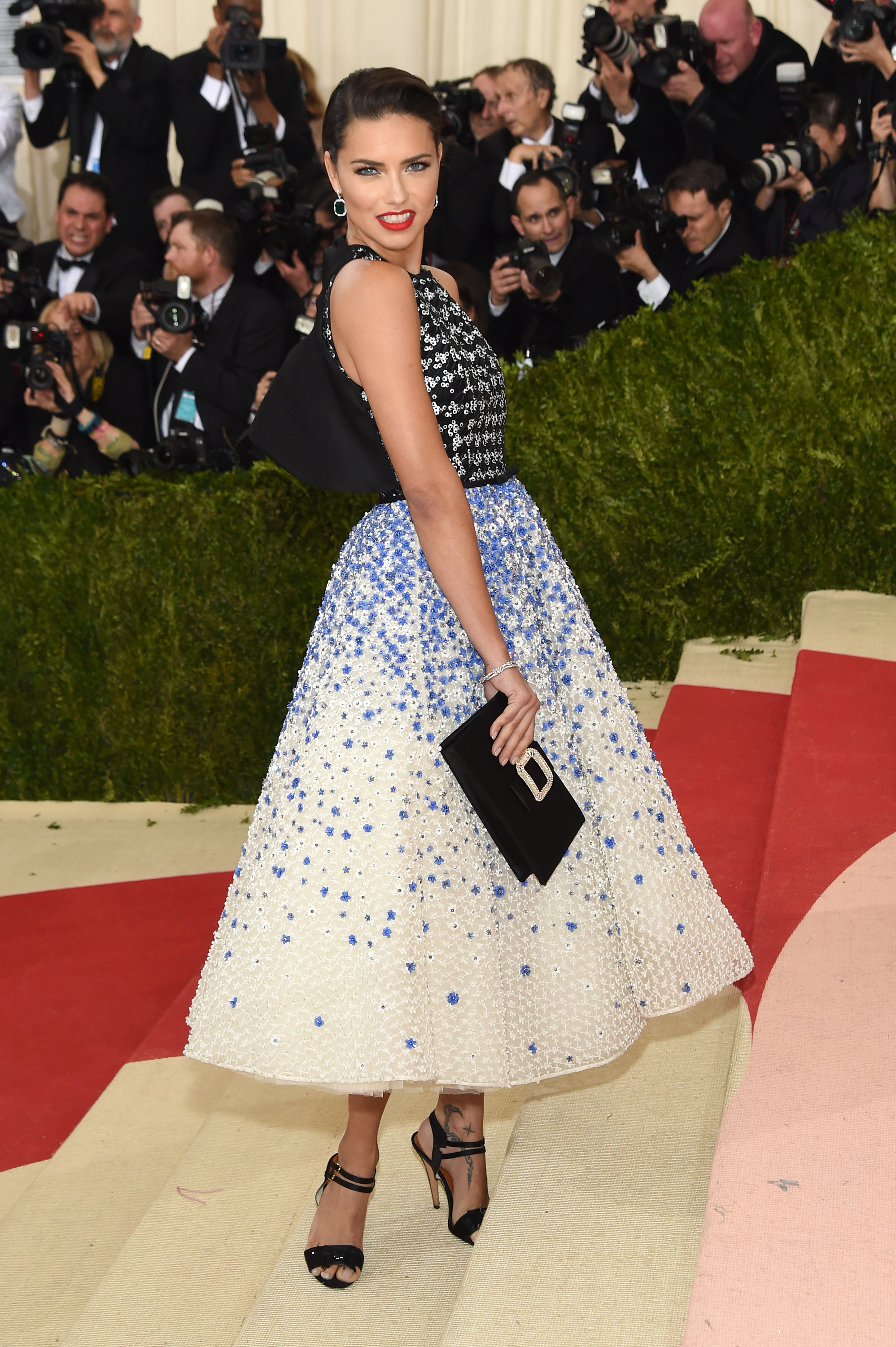 Adriana Lima at the Met Gala. Photo: Jamie McCarthy/Getty Images
