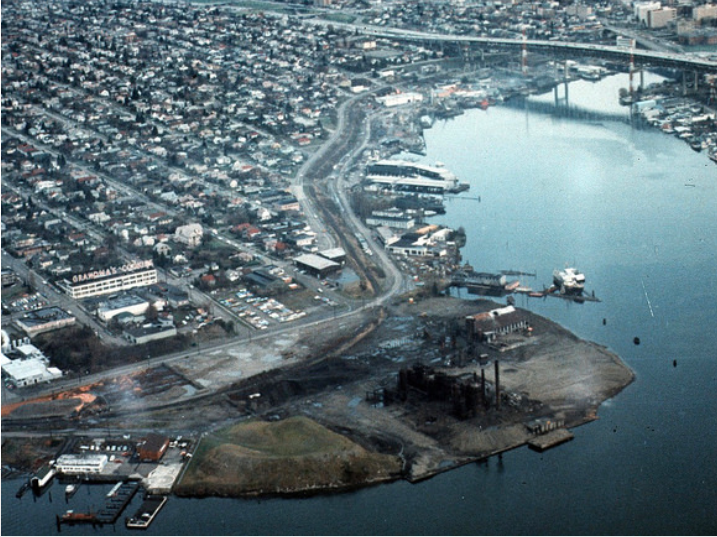Before it was Gas Works Park, it was just a gas works.