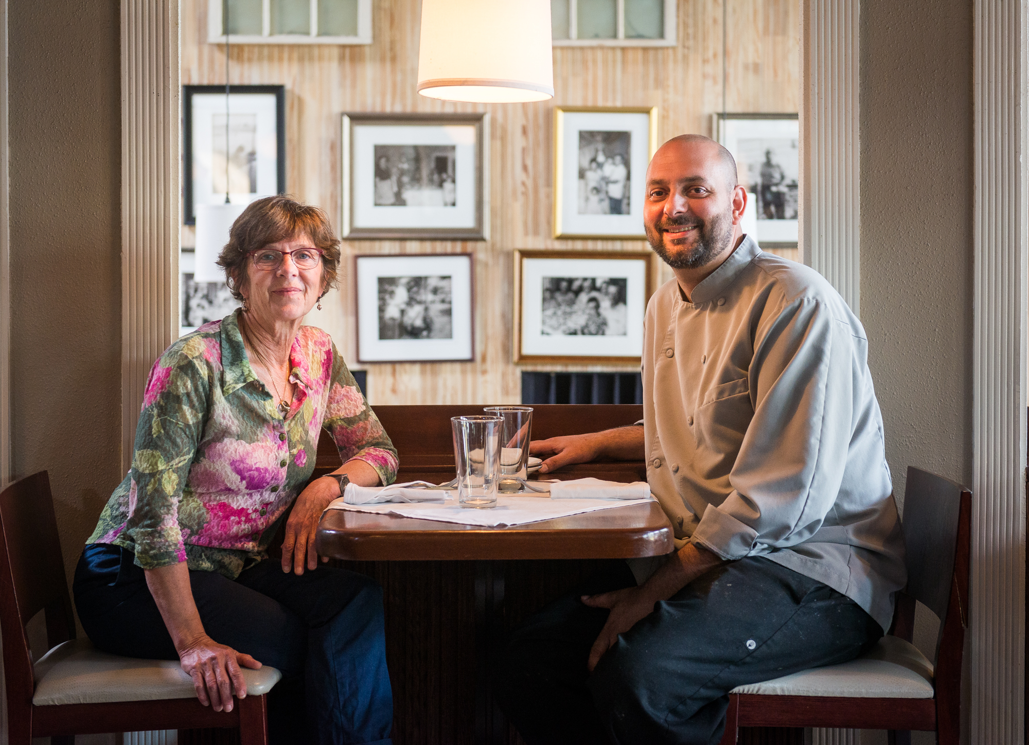 Ann Cashion and Johnny Manolatos at Cashion's Eat Place