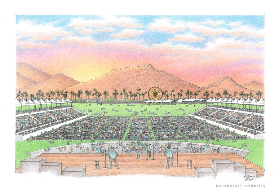 A rendering for the upcoming Desert Trip