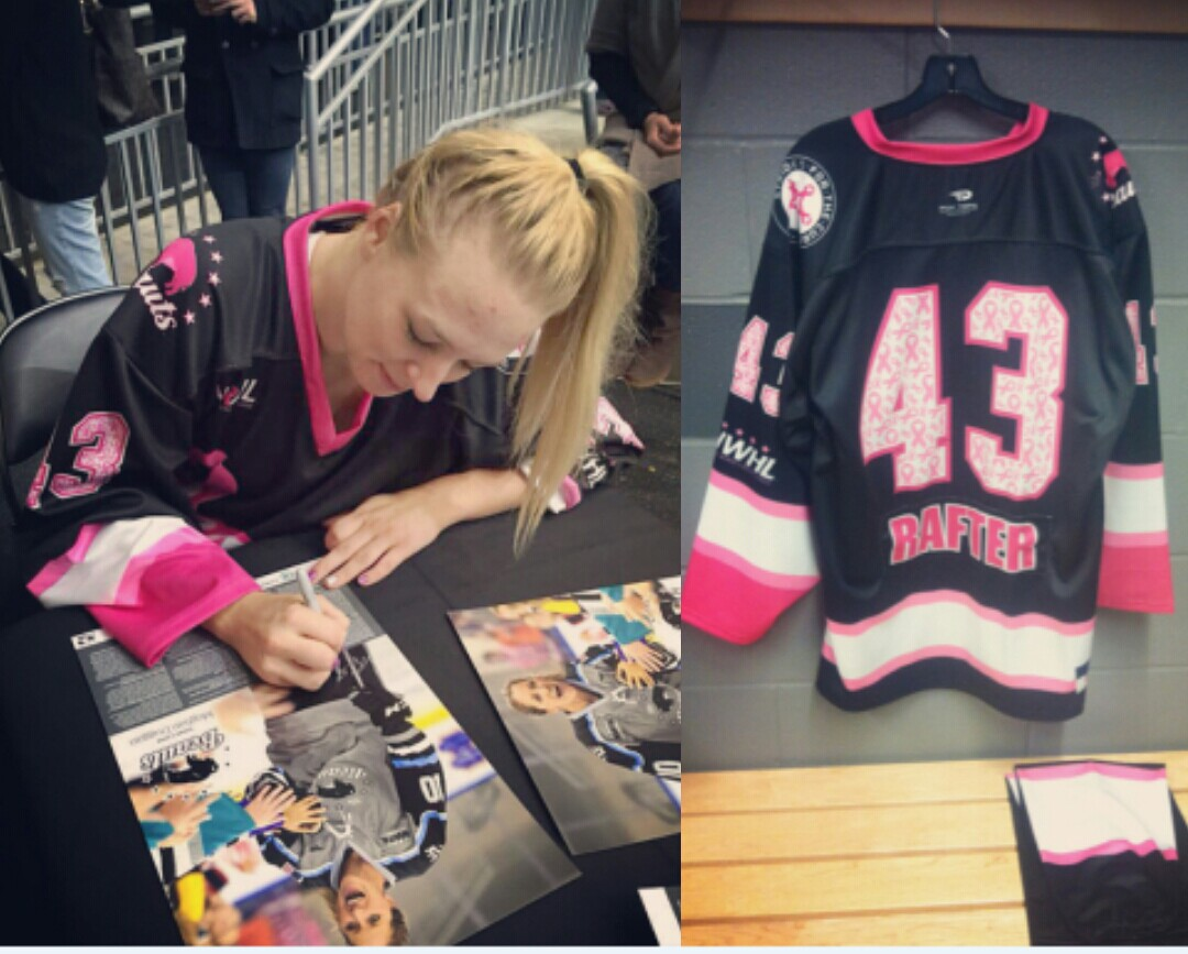 Tatiana Rafter - Autograph Signings after NWHL Breast Cancer Game