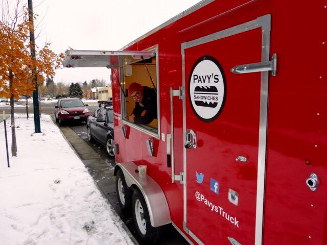 Pavy's Food Truck outside of Fiction Beer Co.