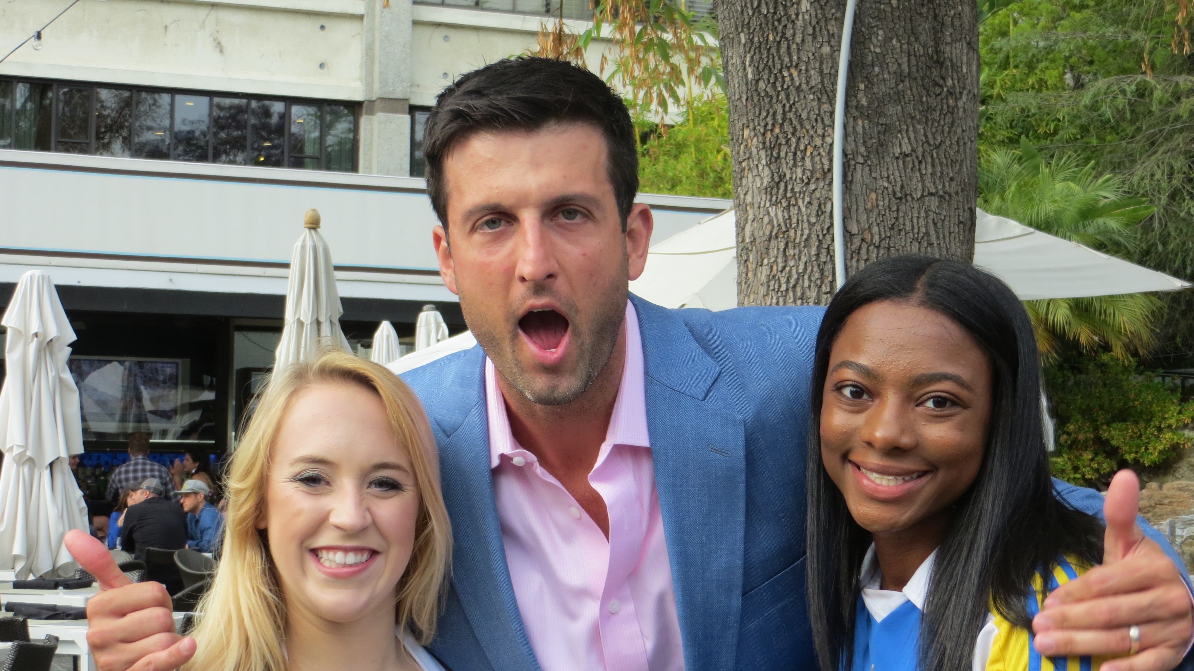 Jason Kapono poses for a goofy picture the Count On Me Foundation's reception.