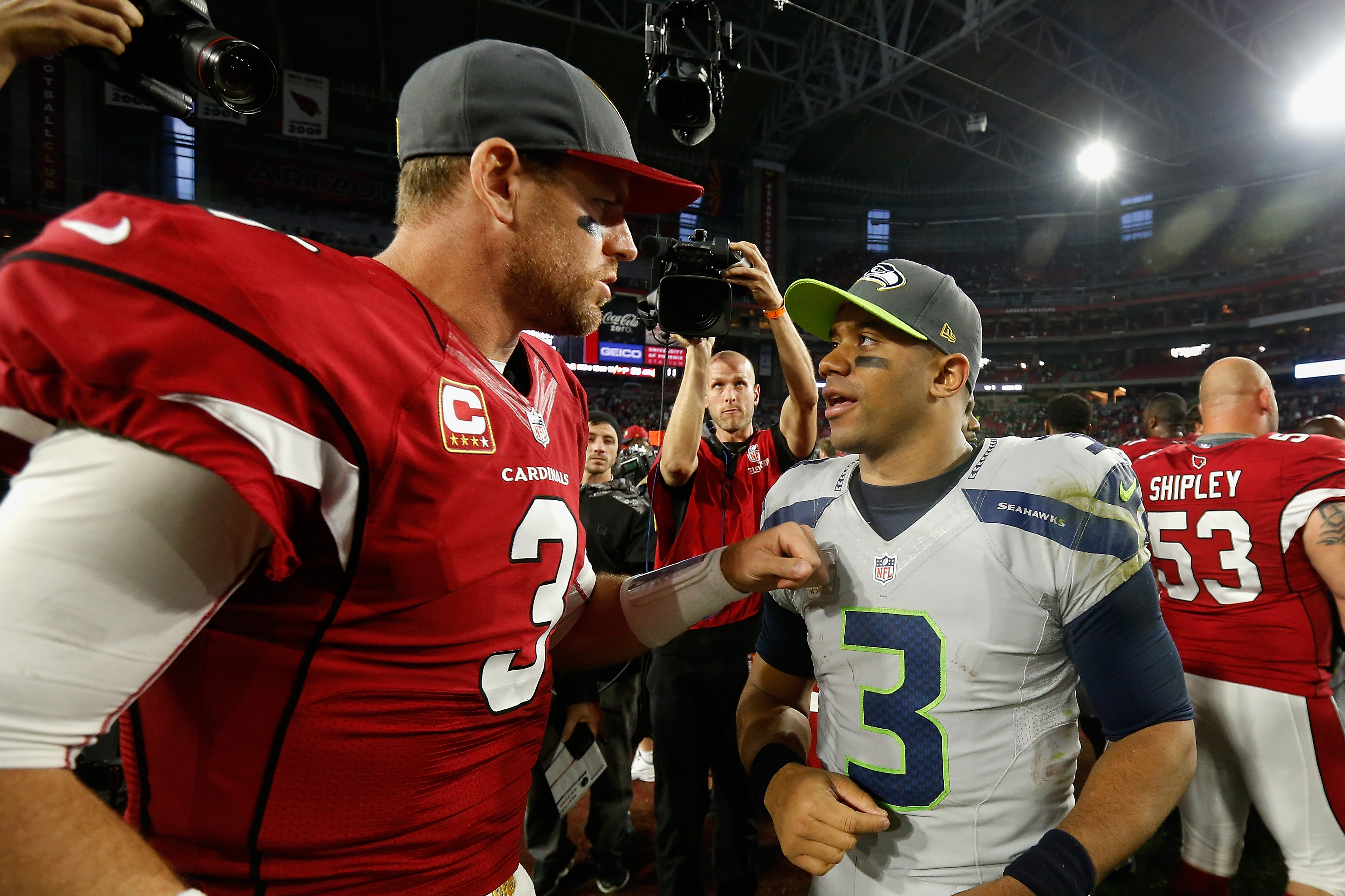 Russell Wilson & Carson Palmer head into 2016 as the top Quarterbacks in the NFC West